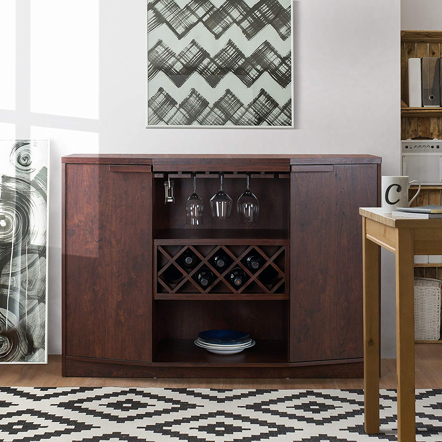 Cheap China Buffet Cabinets 208, Find China Buffet Cabinets for Simple Living Layla Black Buffets (Image 6 of 30)