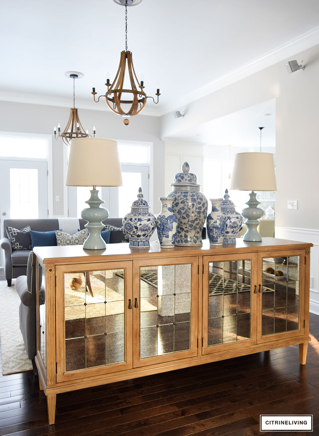 Citrineliving - Our New Antique Mirrored Buffet inside 3-Piece Mirrored Buffets (Image 10 of 30)