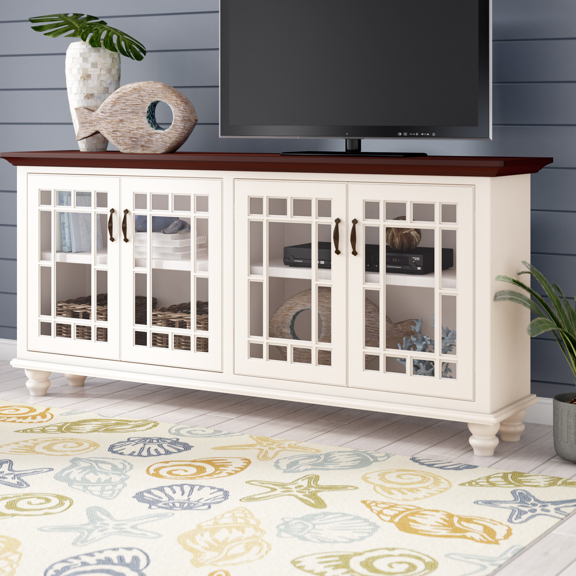 """Coastal Tv Stands   Birch Lane Regarding Parmelee Tv Stands For Tvs Up To 65"""" (View 22 of 30)"""