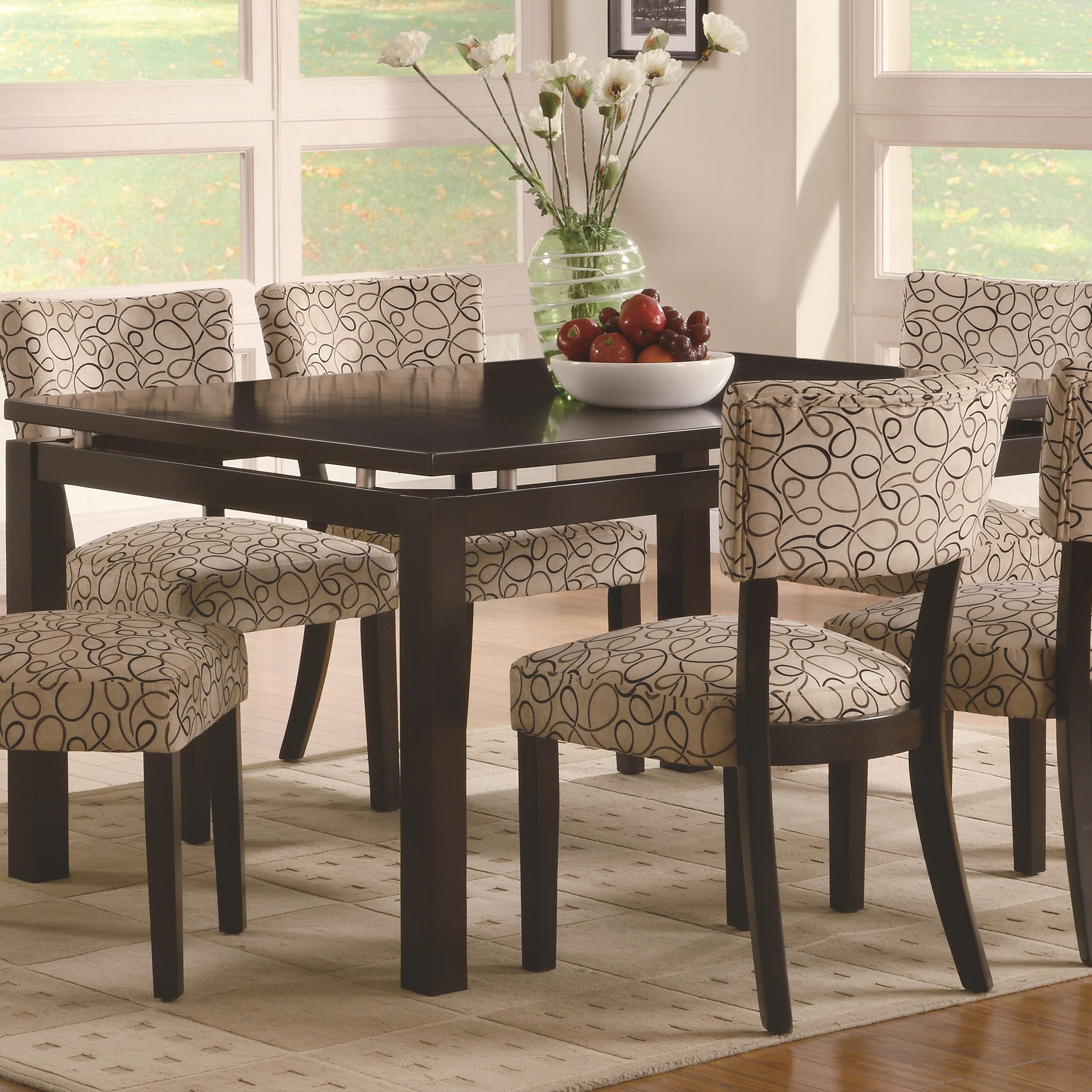Coaster Furniture Libby Cappuccino Dining Table Within Contemporary Cappuccino Dining Buffets (View 7 of 30)