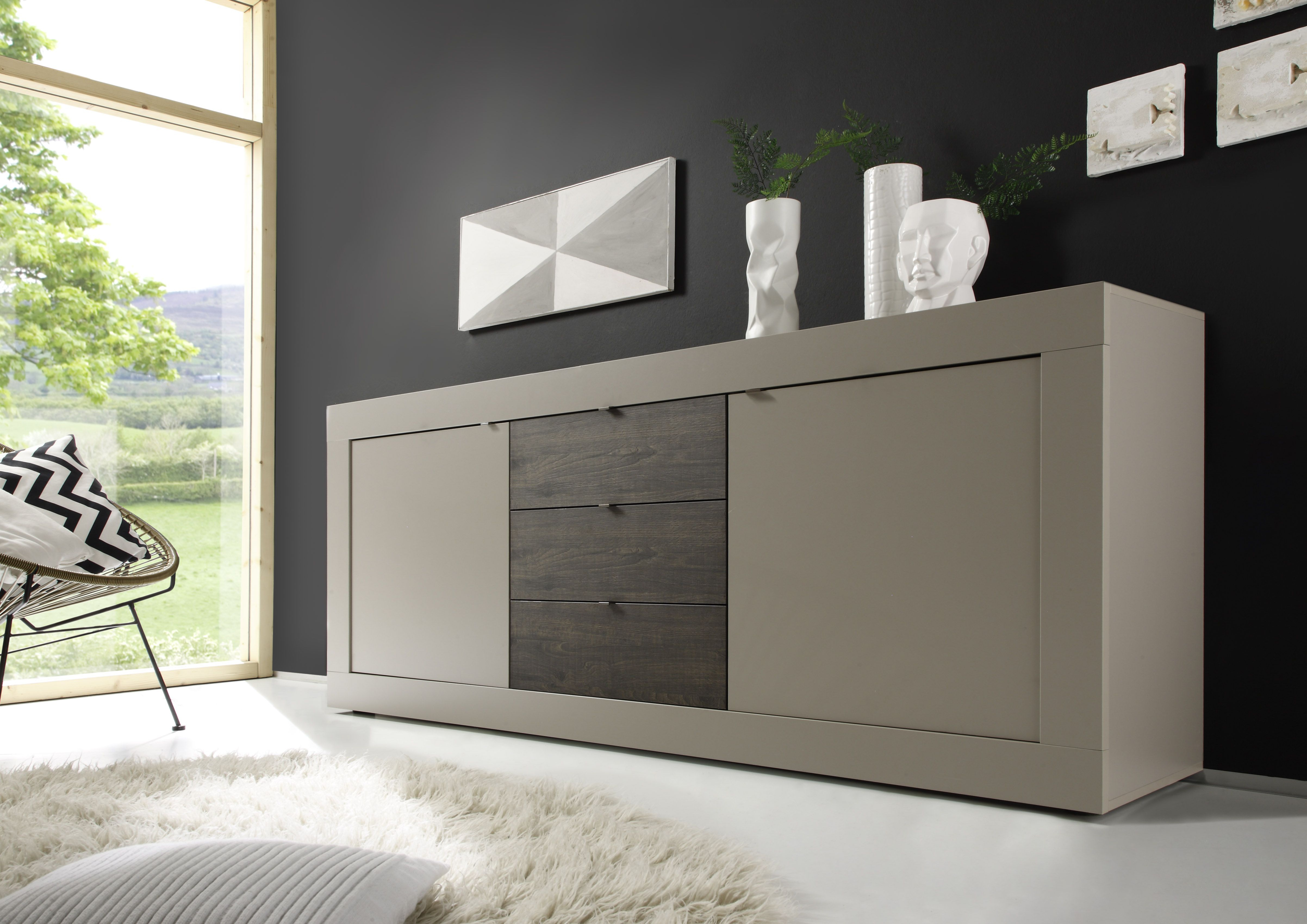 Contemporary Buffet With Shelves In Lacquer In Contemporary Buffets (View 7 of 30)