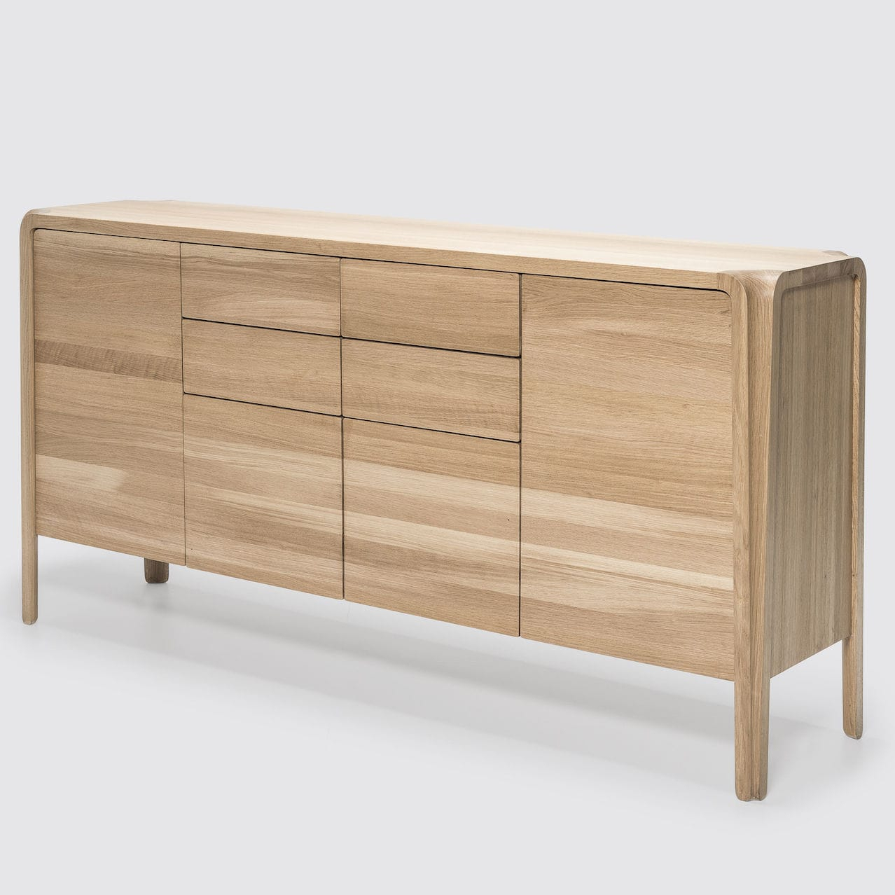 Contemporary Sideboard / Oak / Solid Wood / Ash – Primum Throughout Solid Wood Contemporary Sideboards Buffets (View 6 of 30)