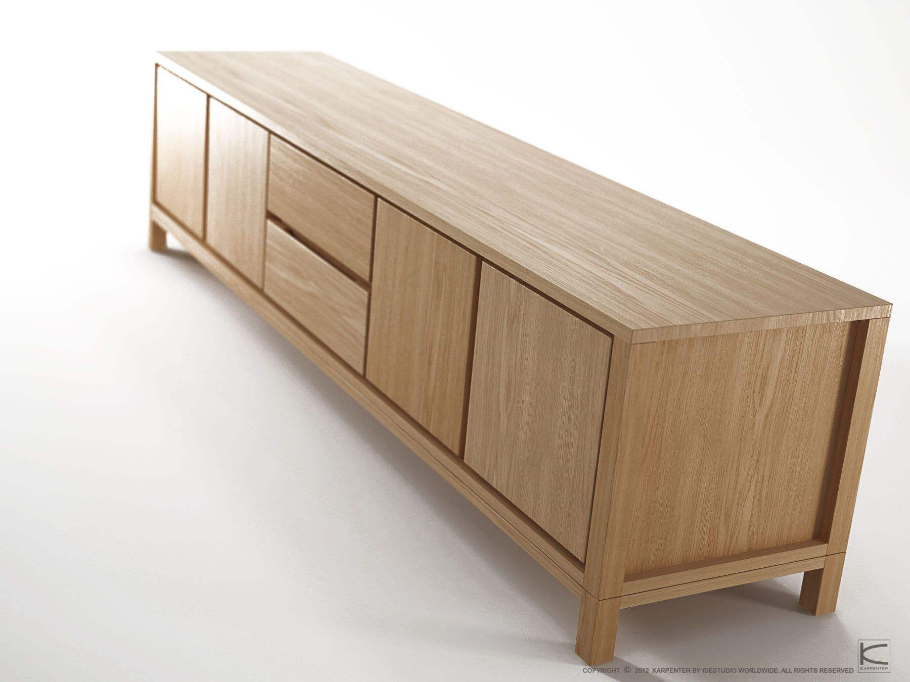 Contemporary Sideboard / Solid Wood / Oak / Teak – Solid With Solid Wood Contemporary Sideboards Buffets (View 7 of 30)
