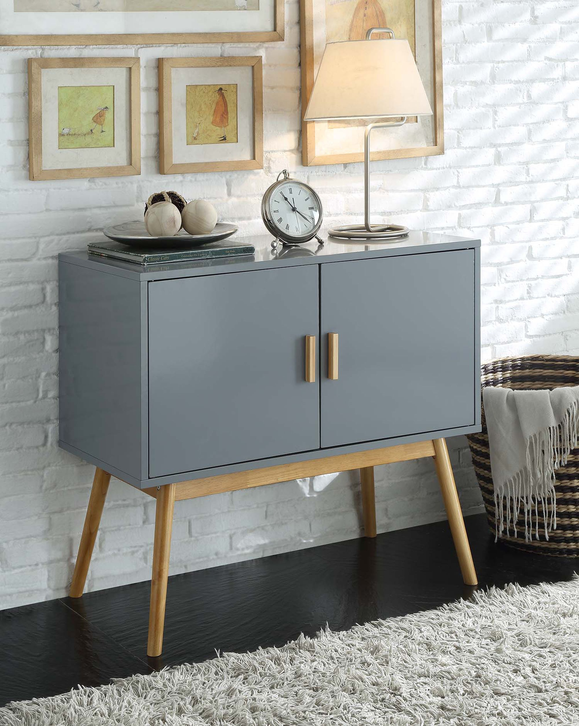 Convenience Concepts Oslo Storage Console In 2019 | A Double Inside Casolino Sideboards (View 6 of 30)