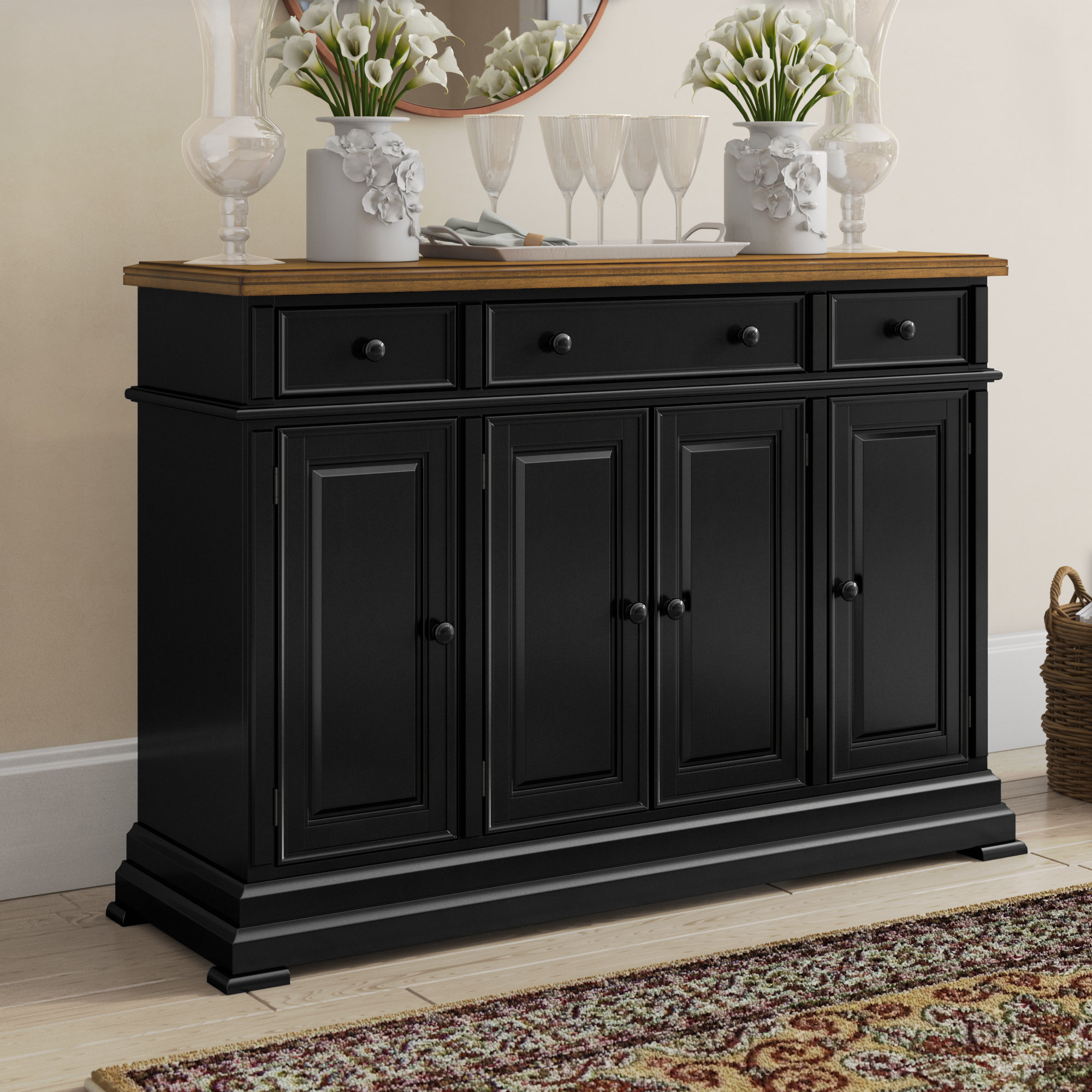 Courtdale Sideboard Throughout Adelbert Credenzas (Image 9 of 30)