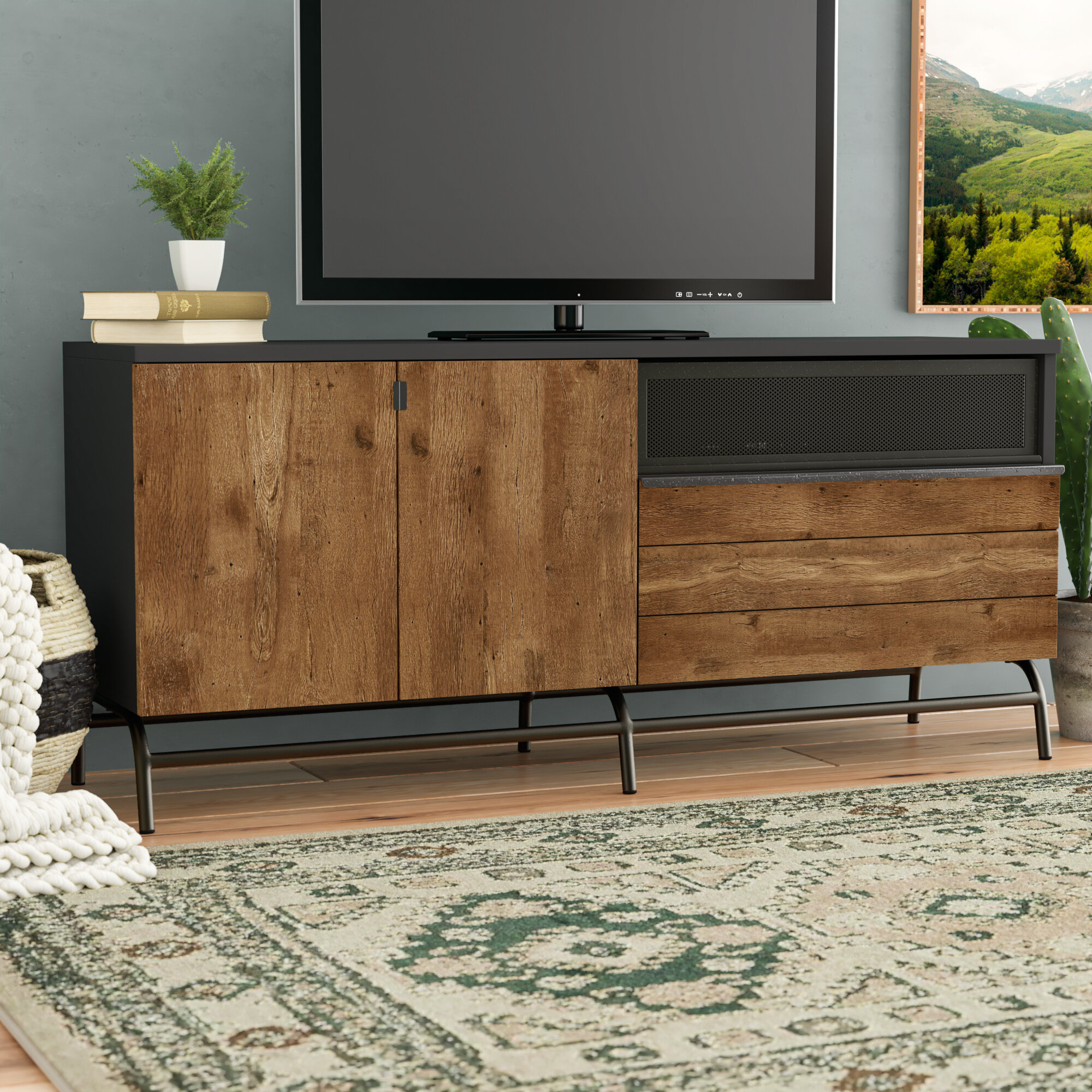 "Credenza Tv Stand You'll Love In 2019 | Wayfair inside Colefax Vintage Tv Stands for Tvs Up to 78"" (Image 12 of 30)"