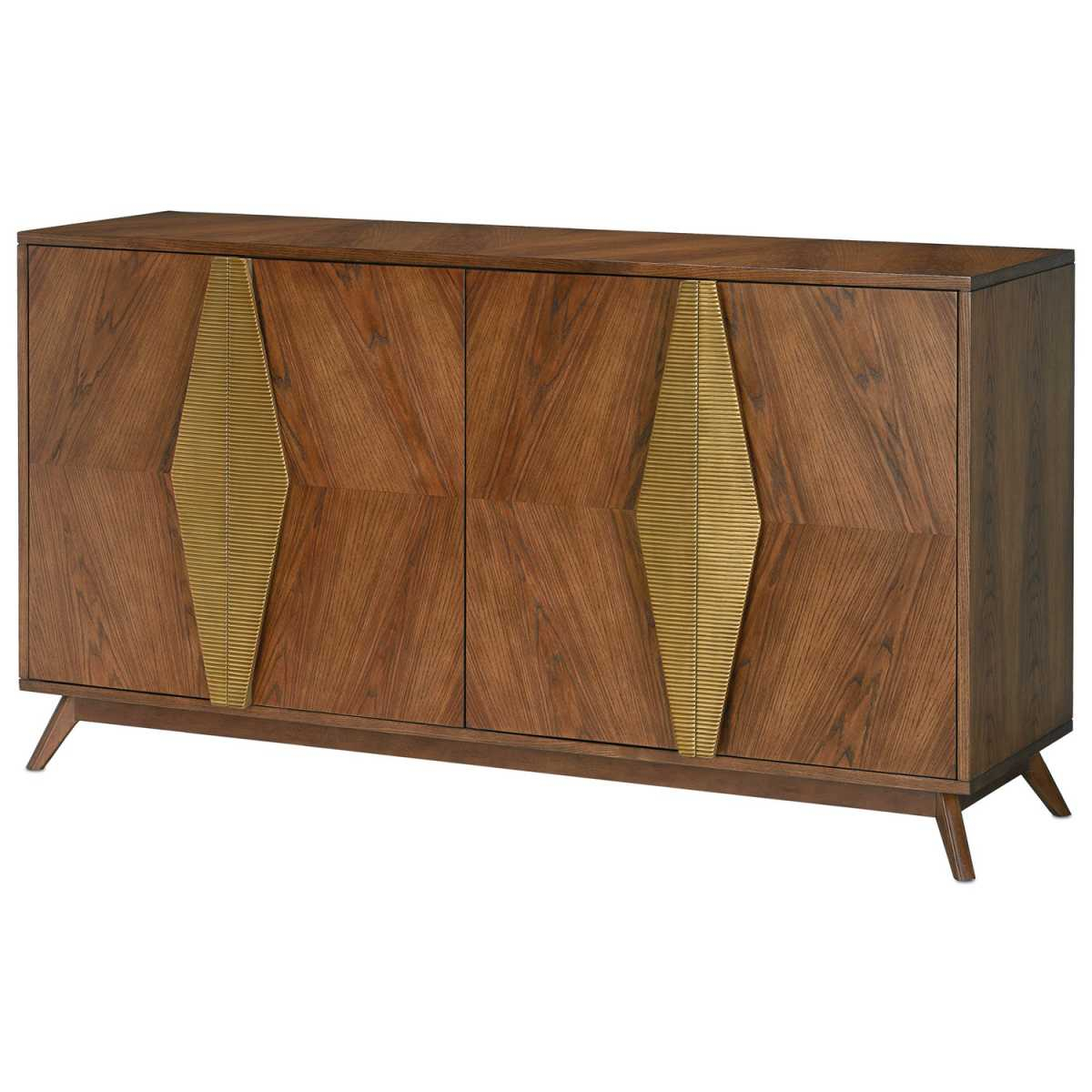 Currey And Company Arren Credenza intended for Multi Stripe Credenzas (Image 6 of 30)