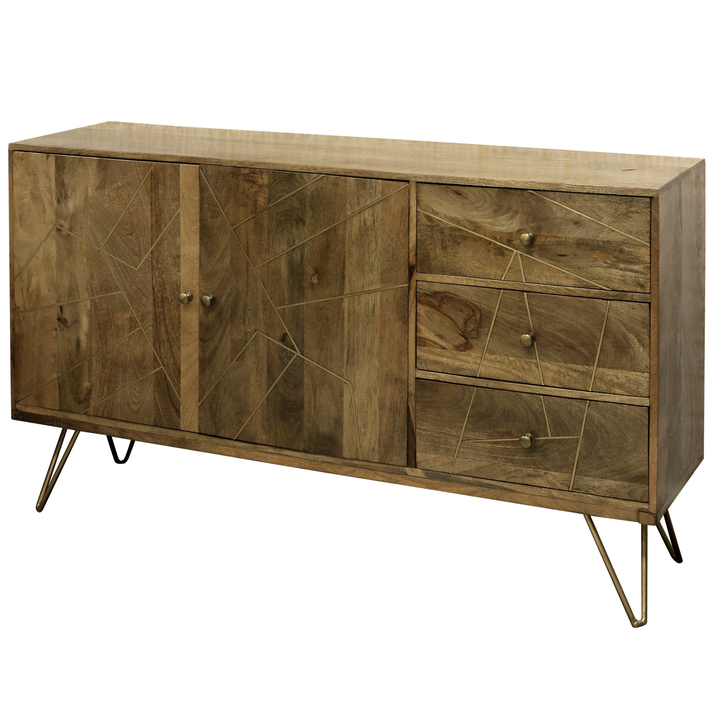 Damarion 3 Drawer Credenza | Joss & Main Inside Armelle Sideboards (Image 11 of 30)