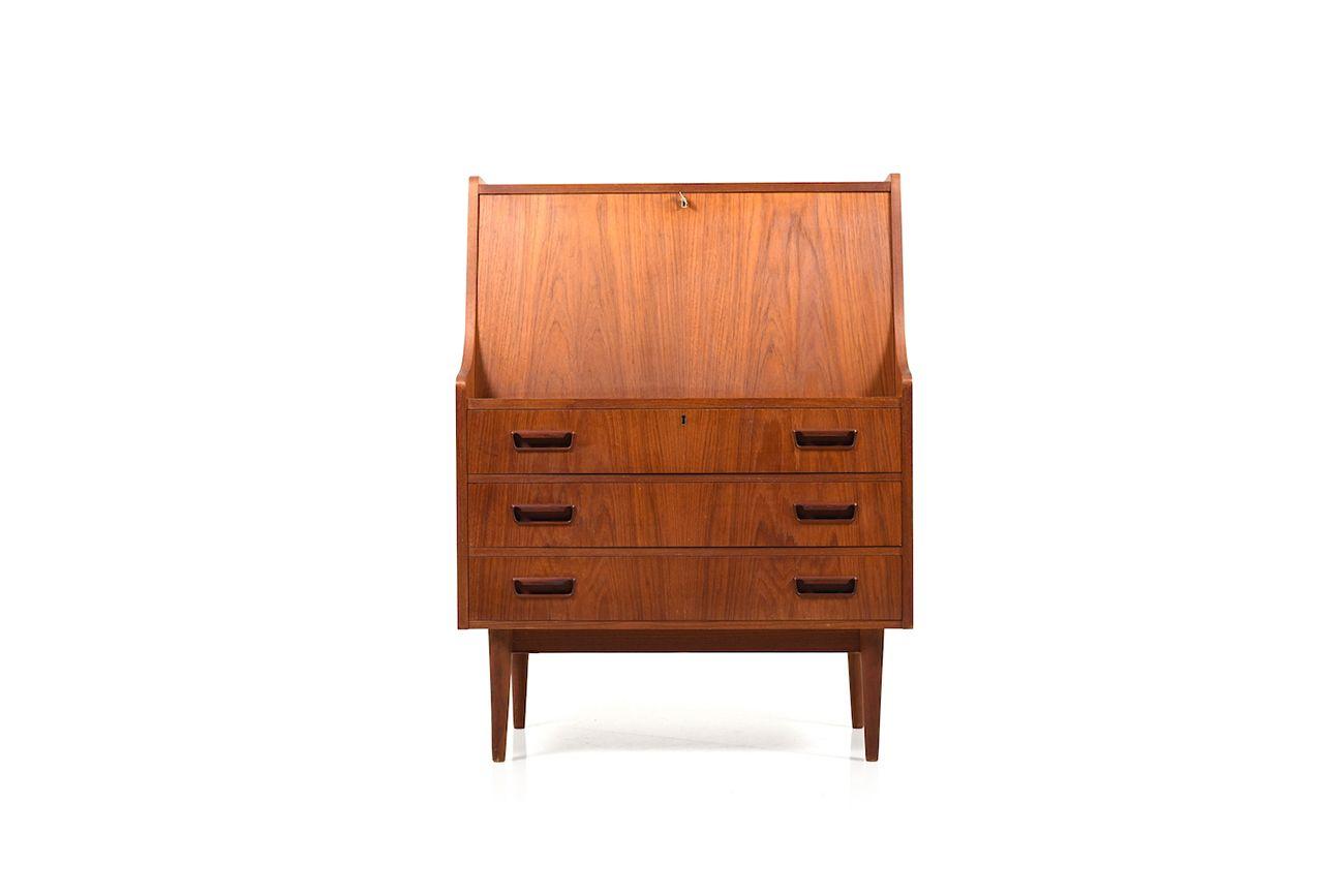 Dänischer Vintage Sekretär Aus Teak In Casolino Sideboards (Gallery 16 of 30)
