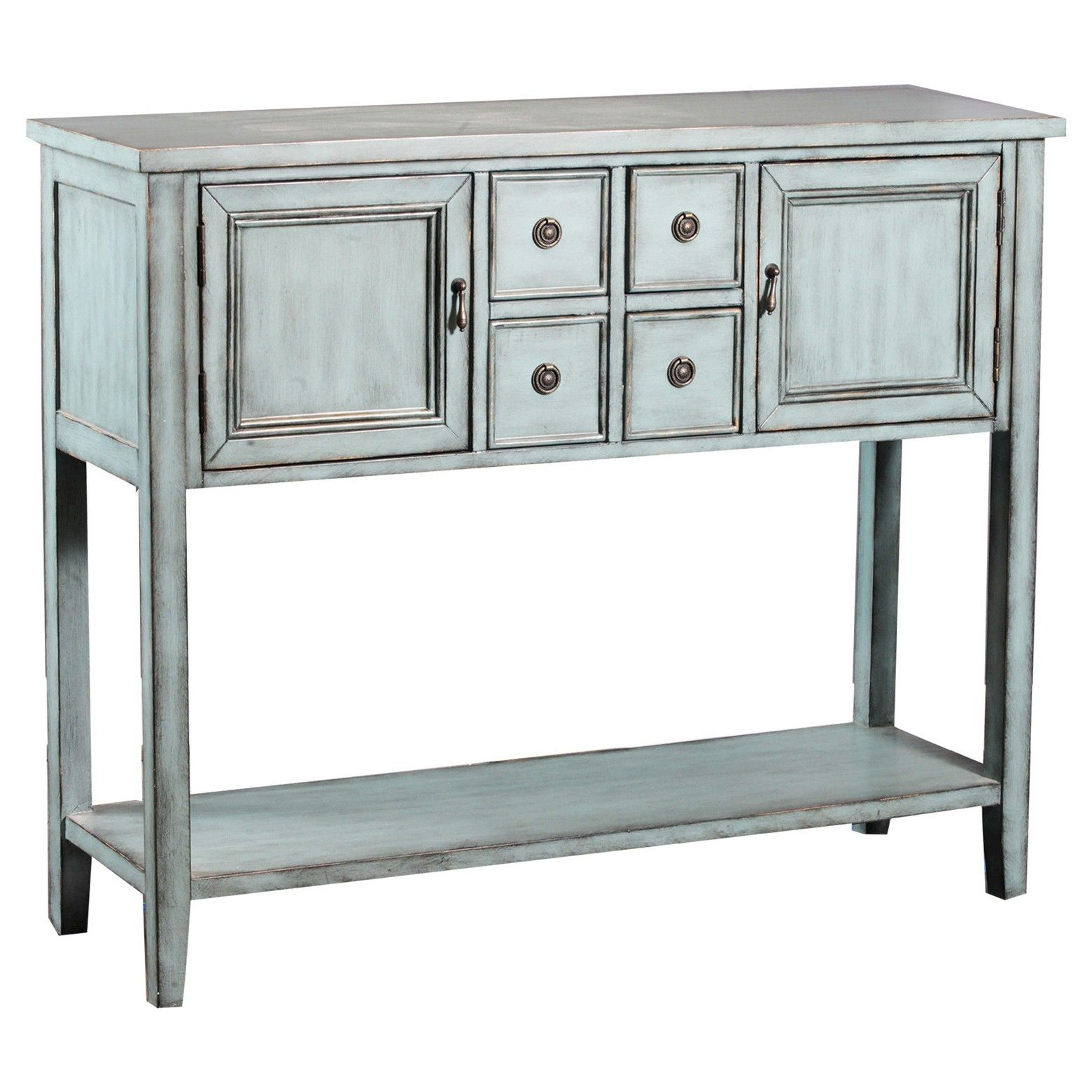 Darby Console Table Blue – Powell Company | Furniture And With Regard To Ellenton Sideboards (Gallery 22 of 30)