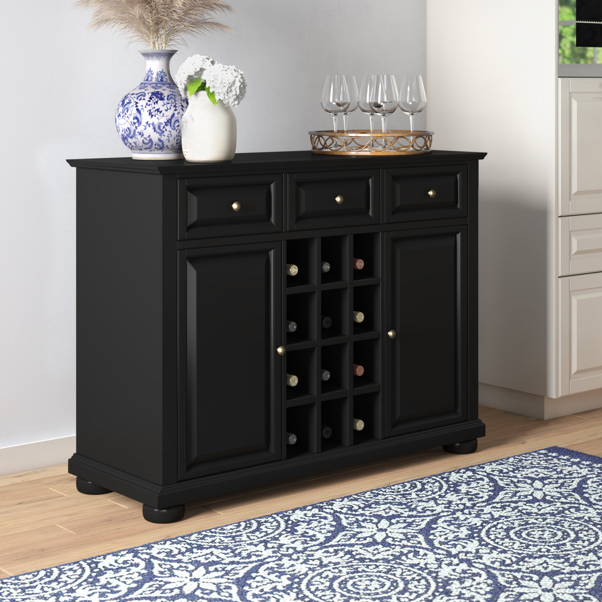 Dark Cherry Buffet You'll Love In 2019 | Wayfair Within Medium Cherry Buffets With Wood Top (Photo 13 of 30)