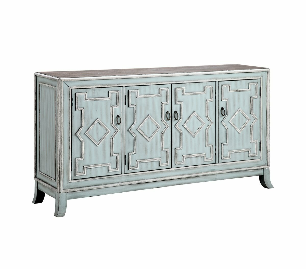 Dasheil Sideboard With Regard To Pink And Navy Peaks Credenzas (Photo 23 of 30)