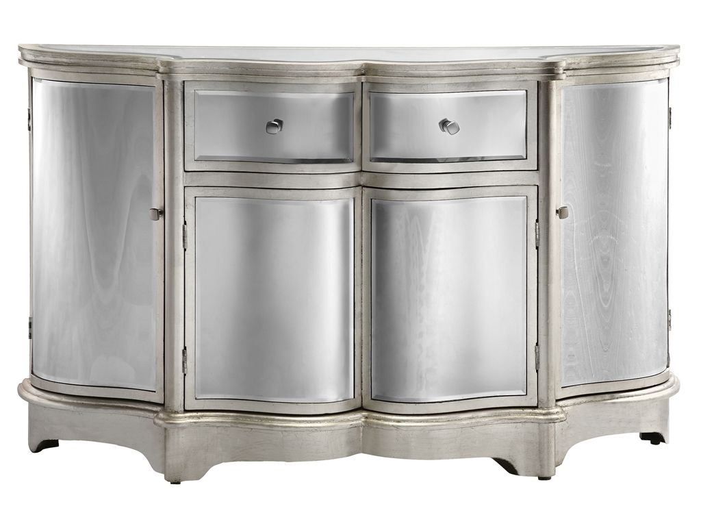 Dazzling Credenza Or Sideboard Featuring Curved Bent Mirror In Wattisham Sideboards (Gallery 3 of 30)
