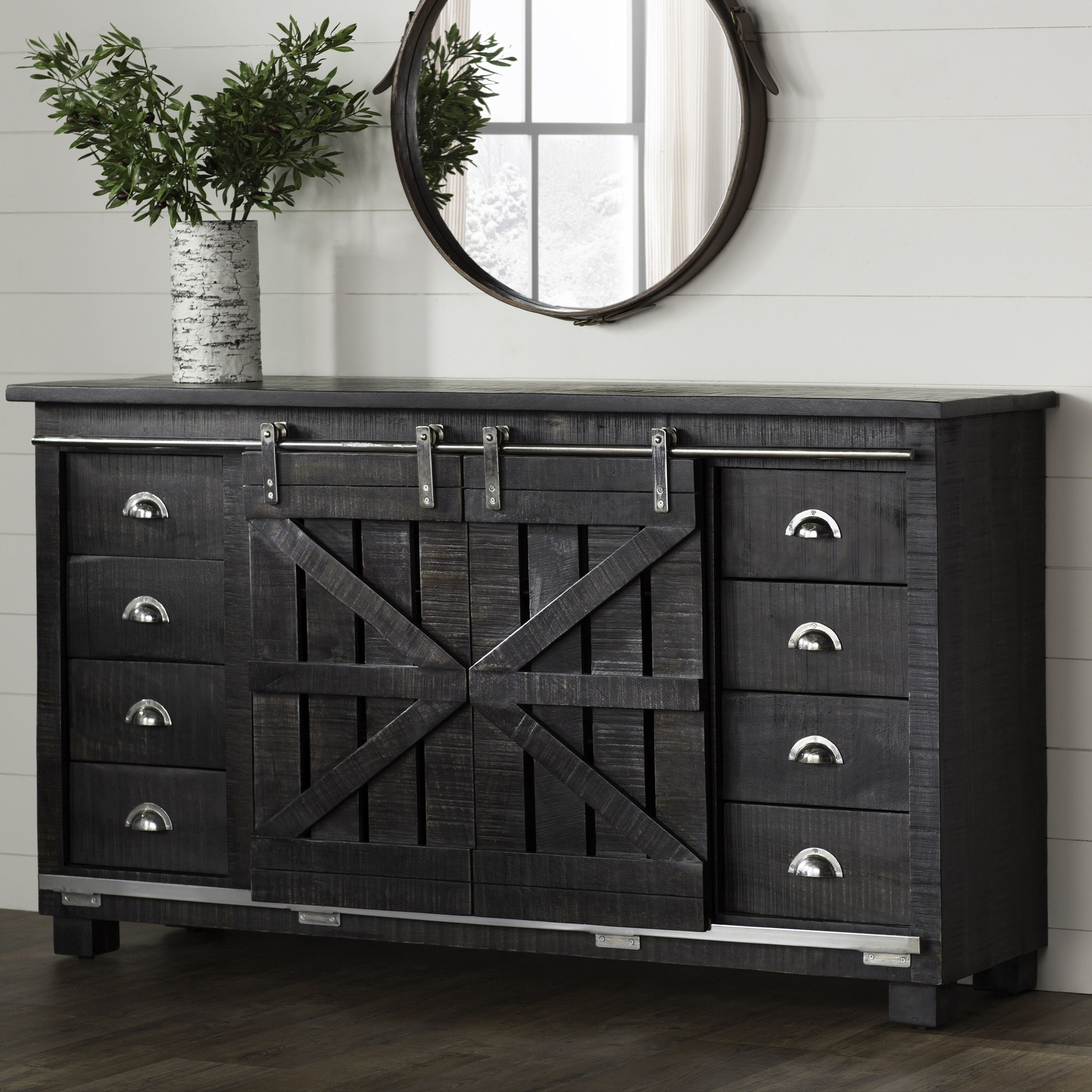 Deana Credenza | Dining Room In 2019 | Shabby Chic Furniture Pertaining To Amityville Sideboards (Gallery 30 of 30)