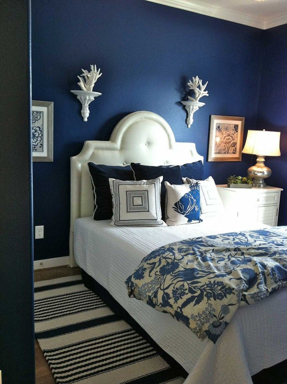 Deep Blue Dreaming | Furniture In 2019 | Blue Bedroom Walls in Deep Blue Fern Credenzas (Image 5 of 30)