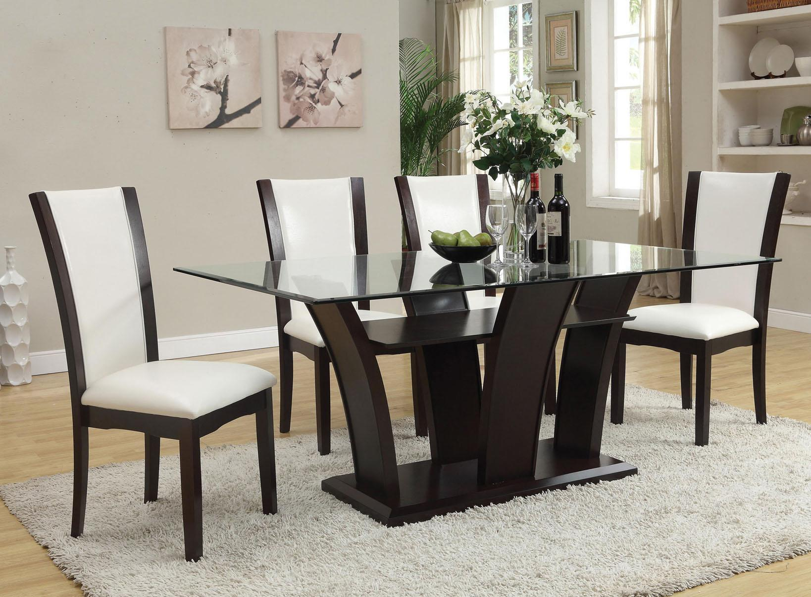 Del Sol Af Malik 70505 Contemporary Casual Dining Table W Intended For Contemporary Espresso Dining Buffets (Photo 24 of 30)
