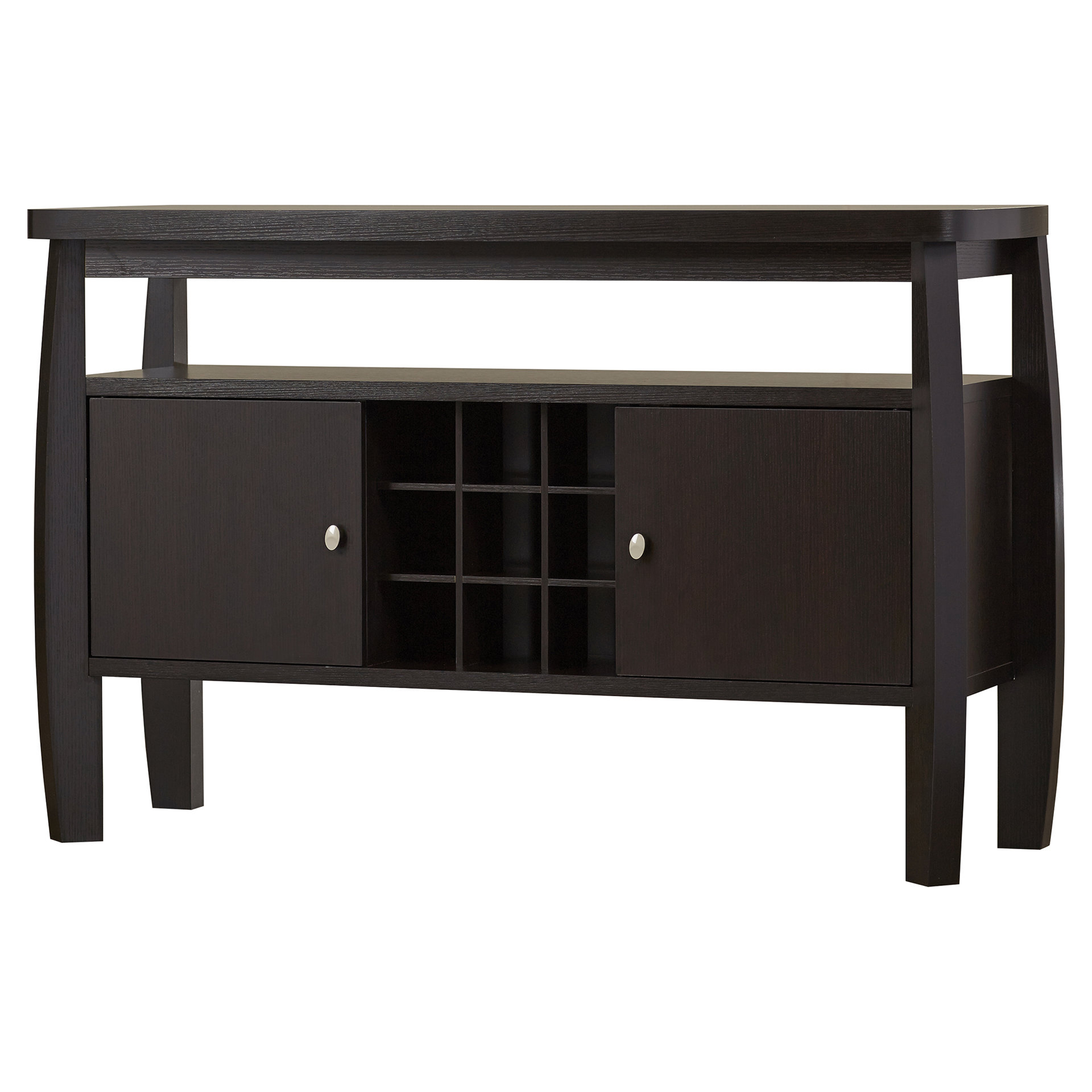 Denman Buffet Table In Espresso Wood Multi Use Buffets (Gallery 29 of 30)