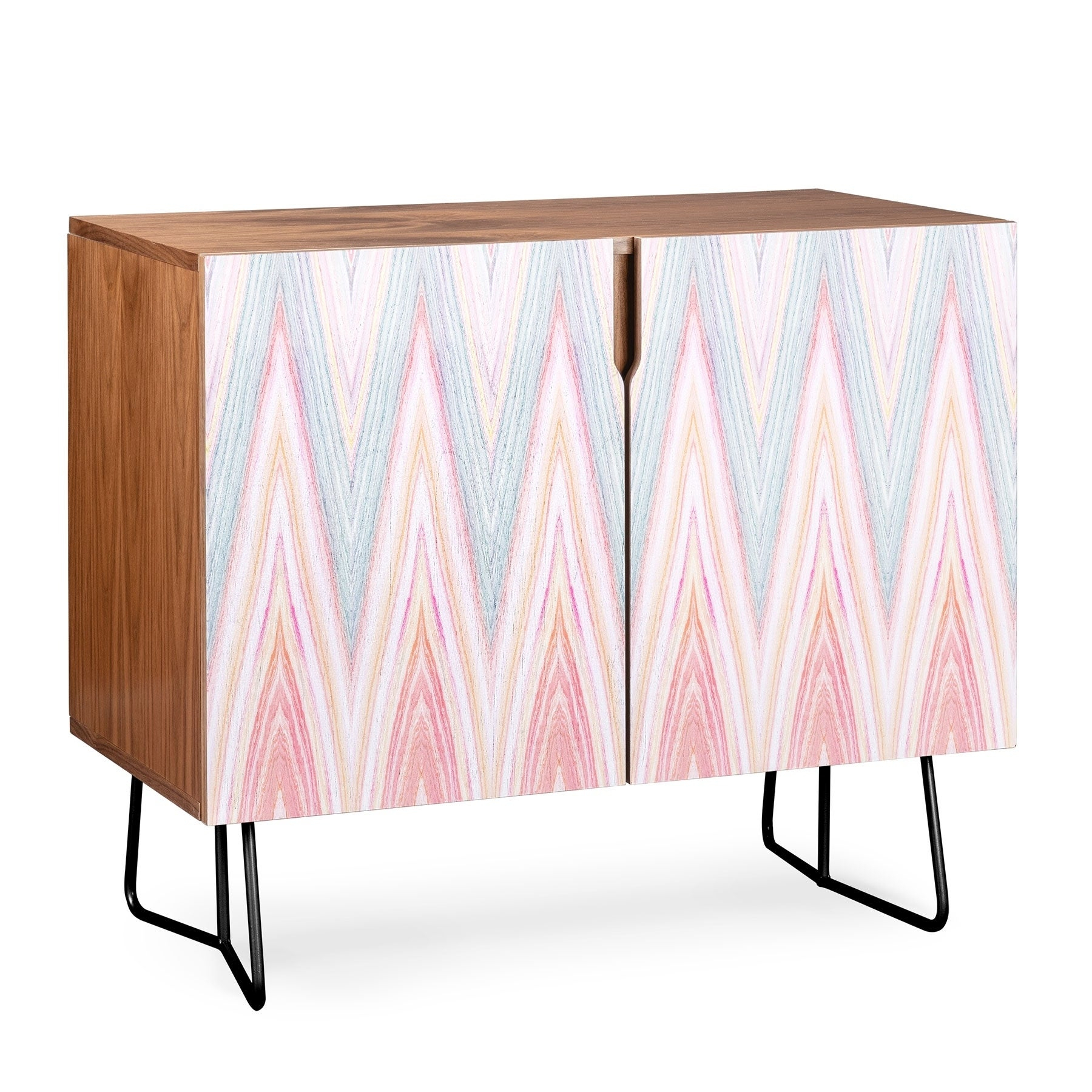 Deny Designs Agate Chevron Credenza (Birch Or Walnut, 2 Leg Options) With Regard To Oenomel Credenzas (Photo 8 of 30)