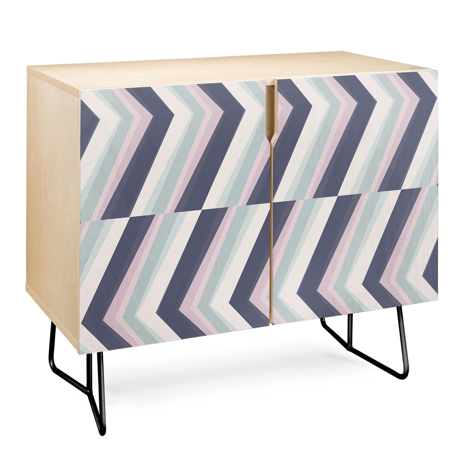 Deny Designs Beach Stripes Credenza (Birch Or Walnut, 2 Leg Options) With Beach Stripes Credenzas (Photo 2 of 30)