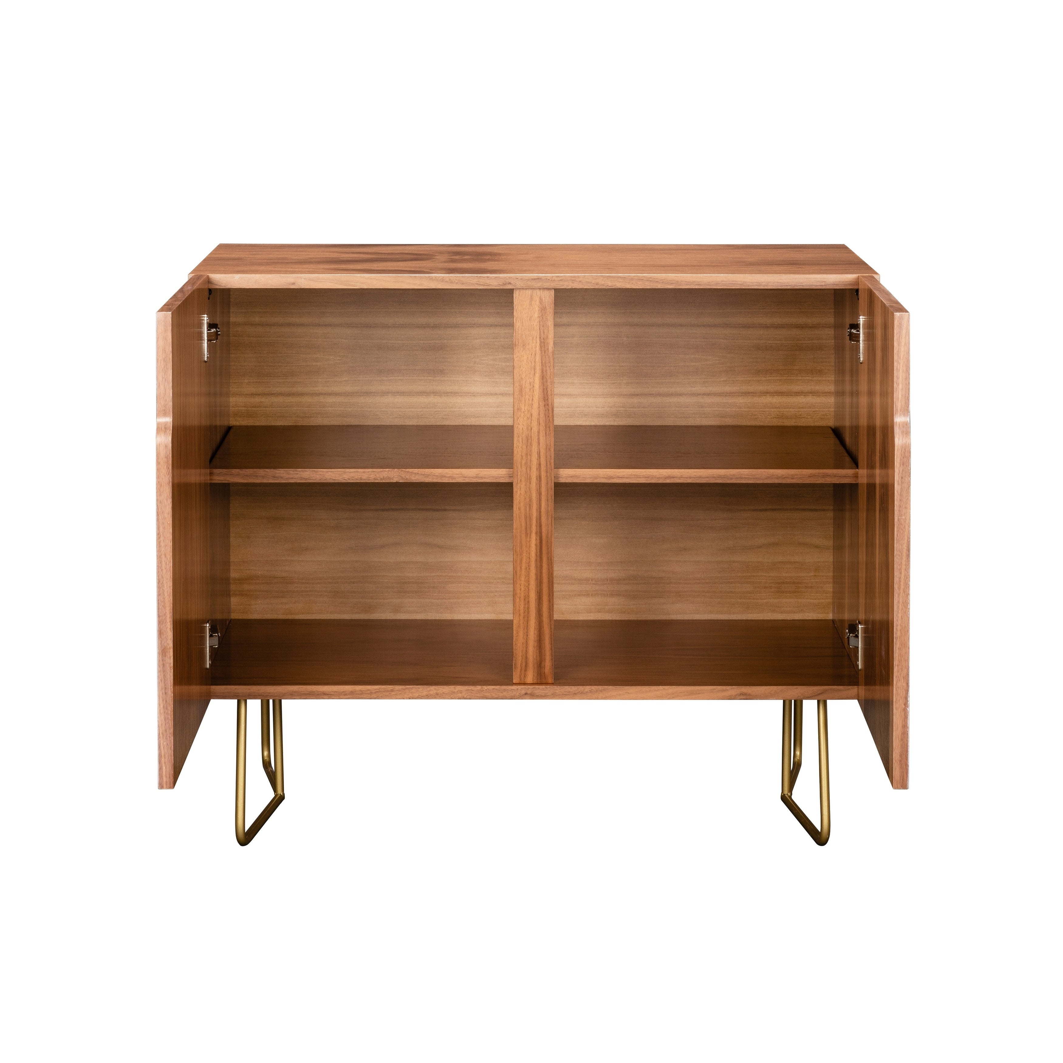 Deny Designs Colorful Leaves Credenza (Birch Or Walnut, 2 Leg Options) In Colorful Leaves Credenzas (Gallery 7 of 30)