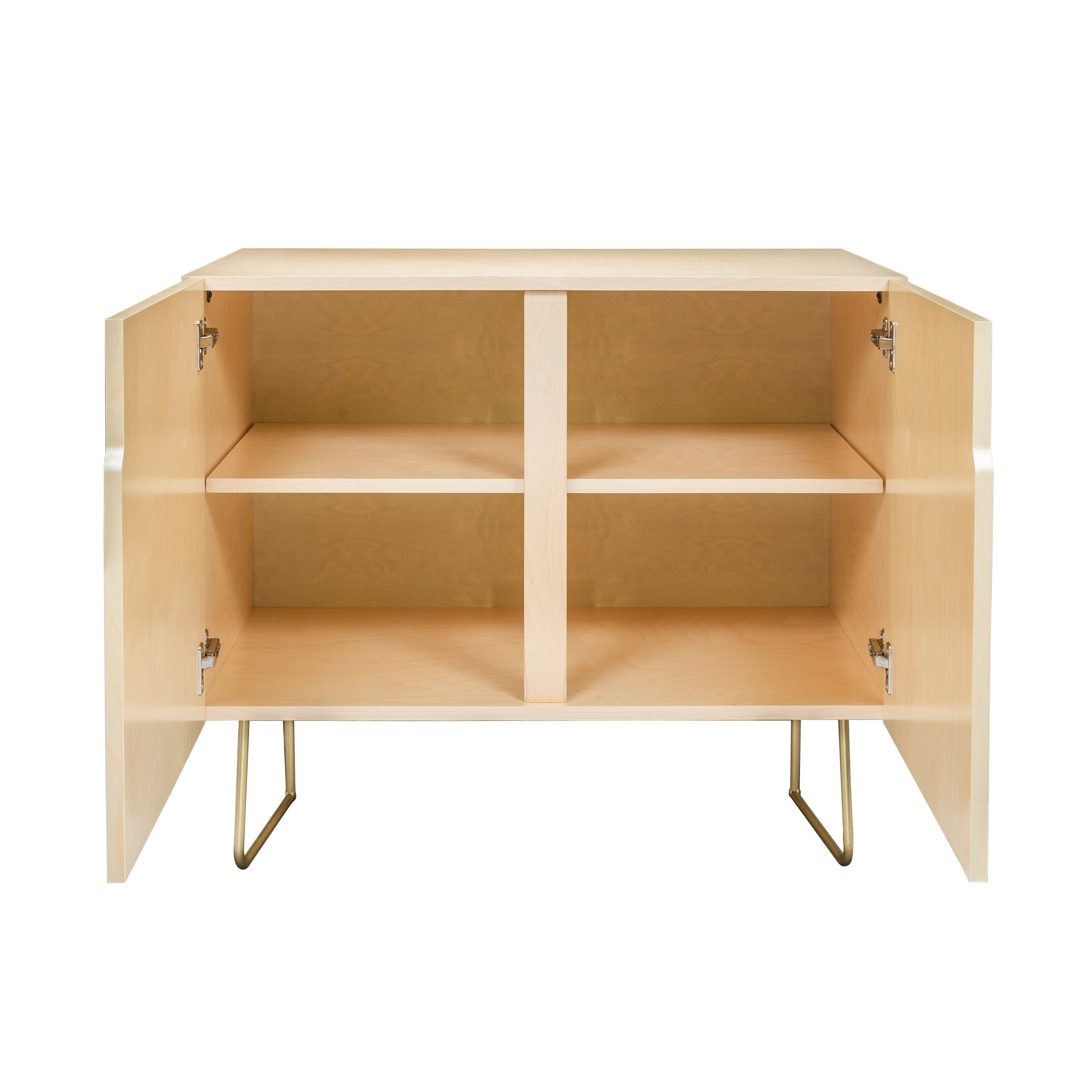Deny Designs Colorful Leaves Credenza (Birch Or Walnut, 2 Leg Options) inside Colorful Leaves Credenzas (Image 11 of 30)