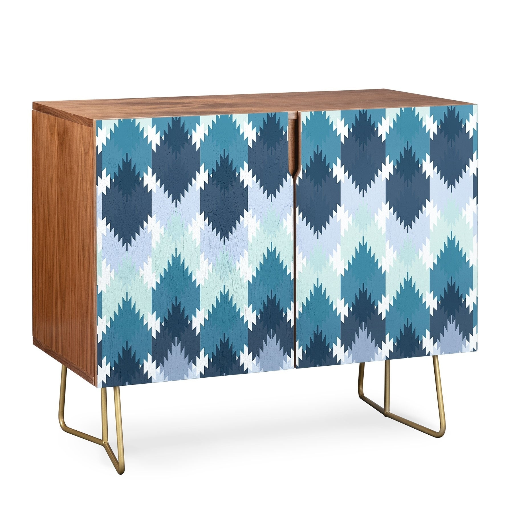 Deny Designs Cool Kilim Credenza (Birch Or Walnut, 2 Leg Options) Regarding Oenomel Credenzas (Gallery 24 of 30)