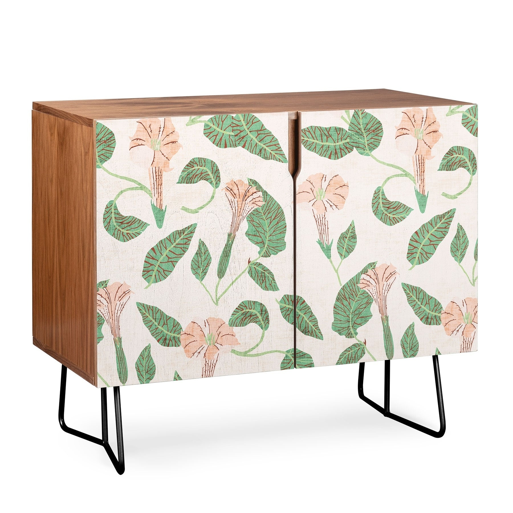 Deny Designs Desert Moonflower Credenza (Birch Or Walnut, 2 Leg Options) With Regard To Oenomel Credenzas (Gallery 22 of 30)