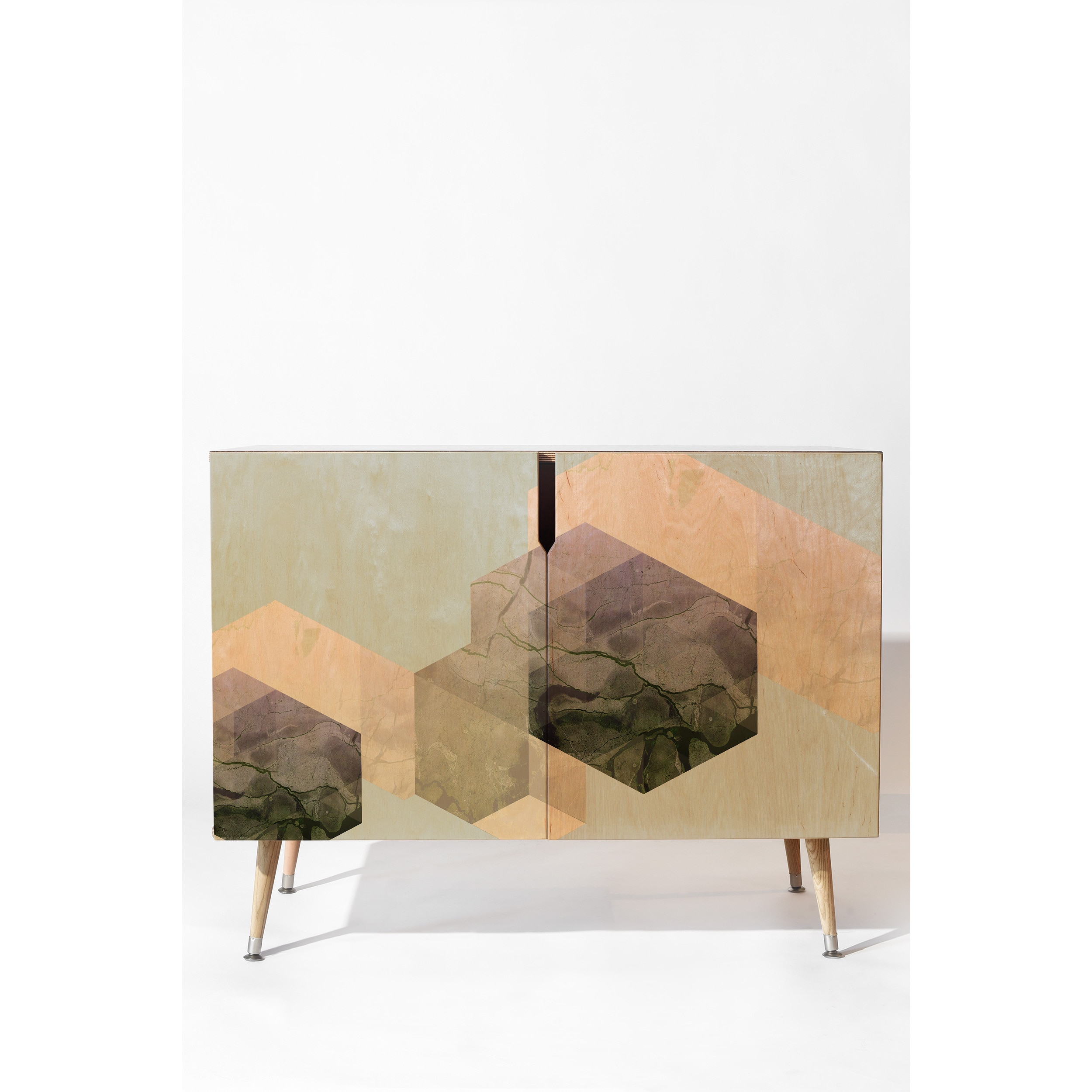 Deny Designs Emanuela Carratoni Marble Geometry Credenza Inside Multi Colored Geometric Shapes Credenzas (Photo 28 of 30)
