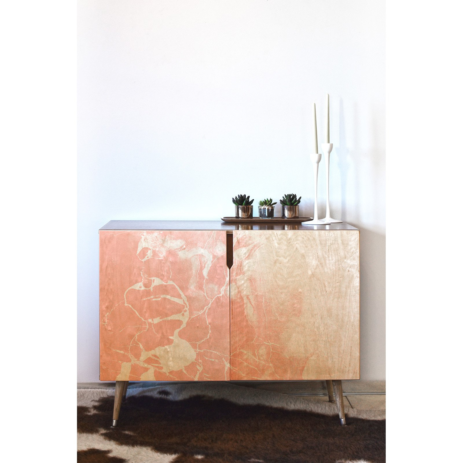 Deny Designs Emanuela Carratoni Pink Marble With White Pertaining To Colorful Leaves Credenzas (Photo 11 of 30)