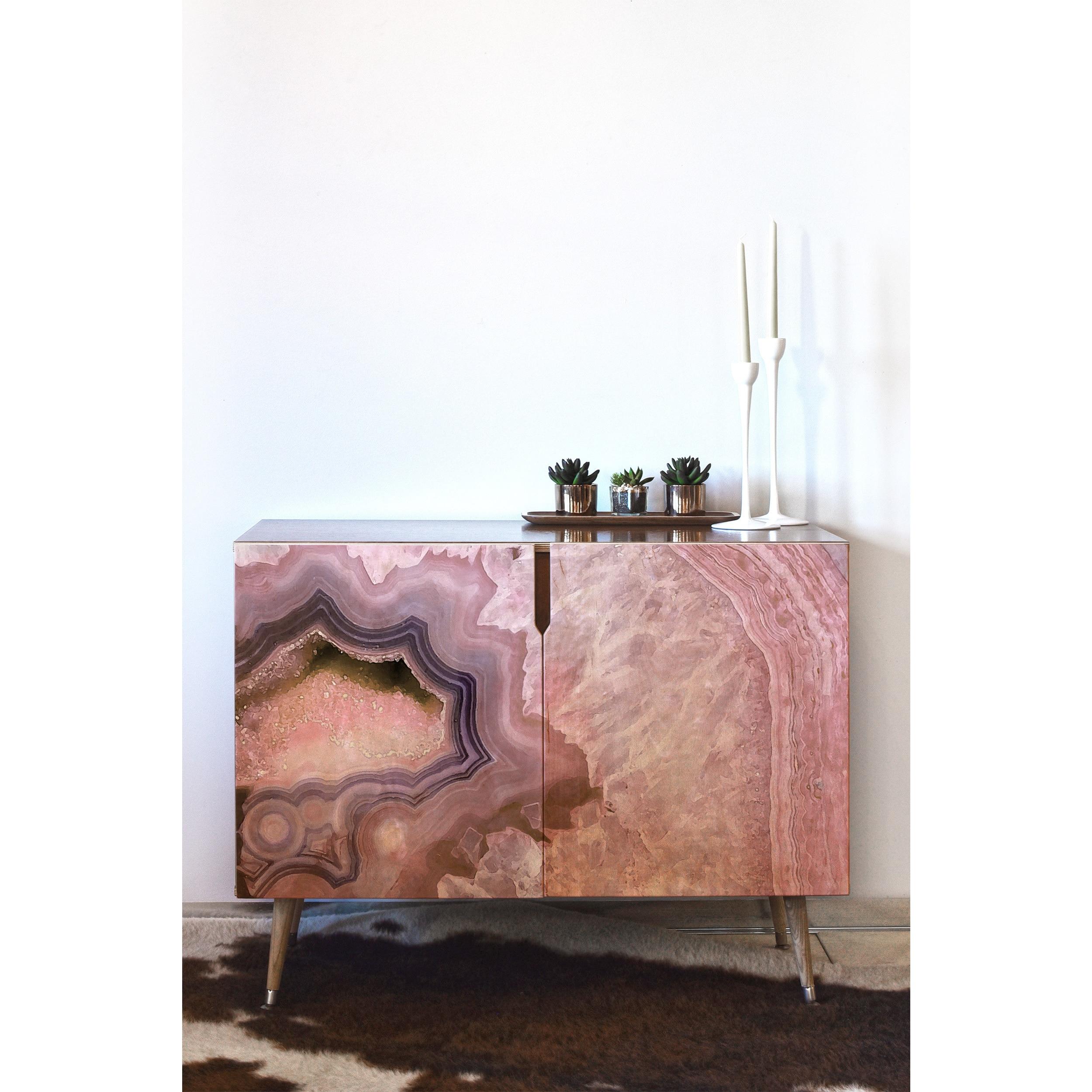 Deny Designs Emanuela Pale Pink Agate Wood Credenza With Pale Pink Agate Wood Credenzas (Photo 1 of 30)