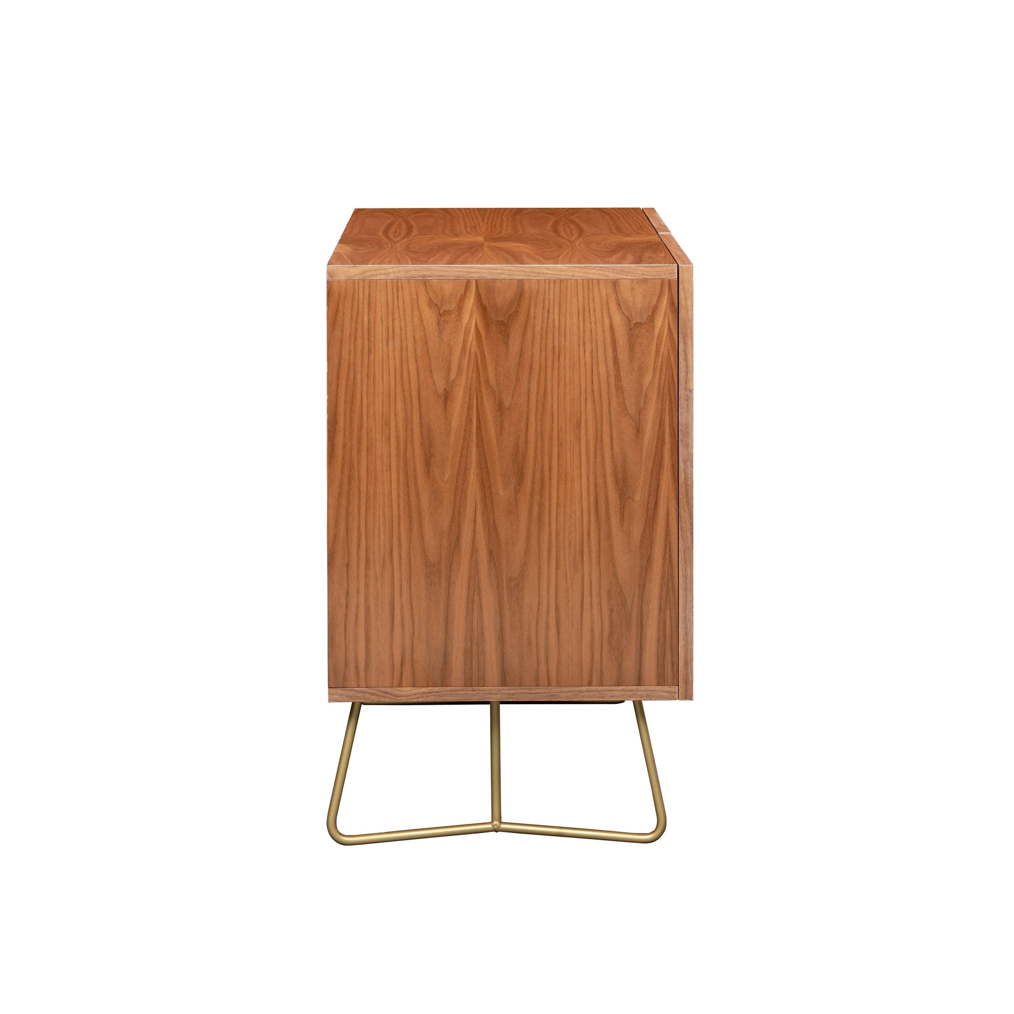 Deny Designs Emerald Cubes Credenza (Birch Or Walnut, 2 Leg Options) Inside Emerald Cubes Credenzas (Gallery 8 of 30)