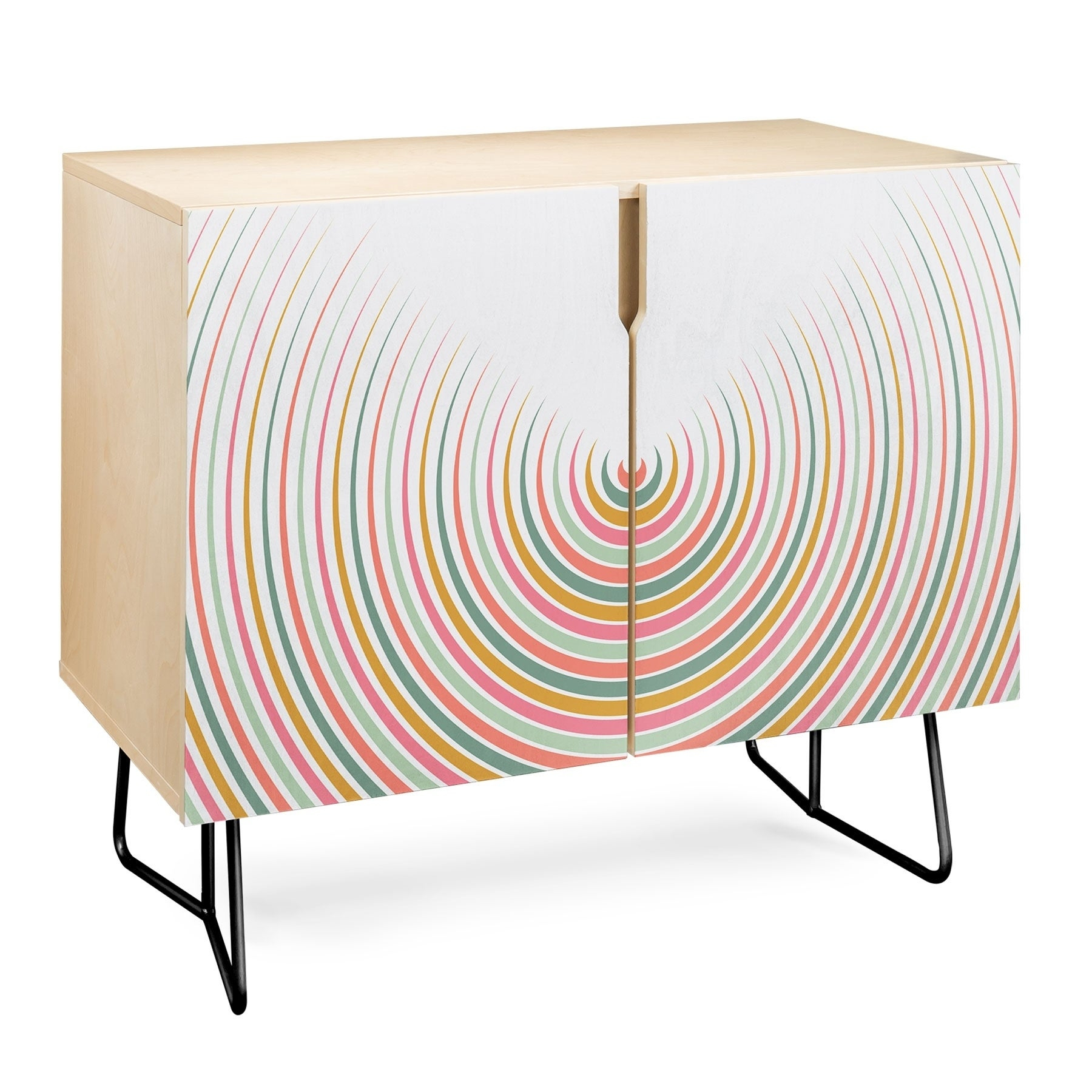 Deny Designs Festival Eclipse Credenza (Birch Or Walnut, 2 Leg Options) In Festival Eclipse Credenzas (Gallery 3 of 30)