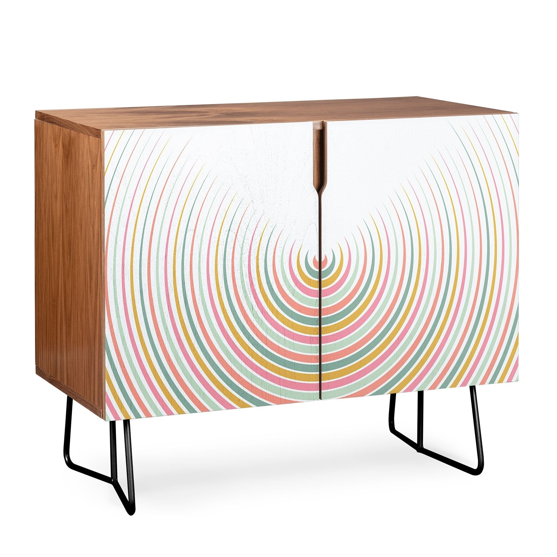 Deny Designs Festival Eclipse Credenza (Birch Or Walnut, 2 Leg Options) Intended For Festival Eclipse Credenzas (Gallery 2 of 30)