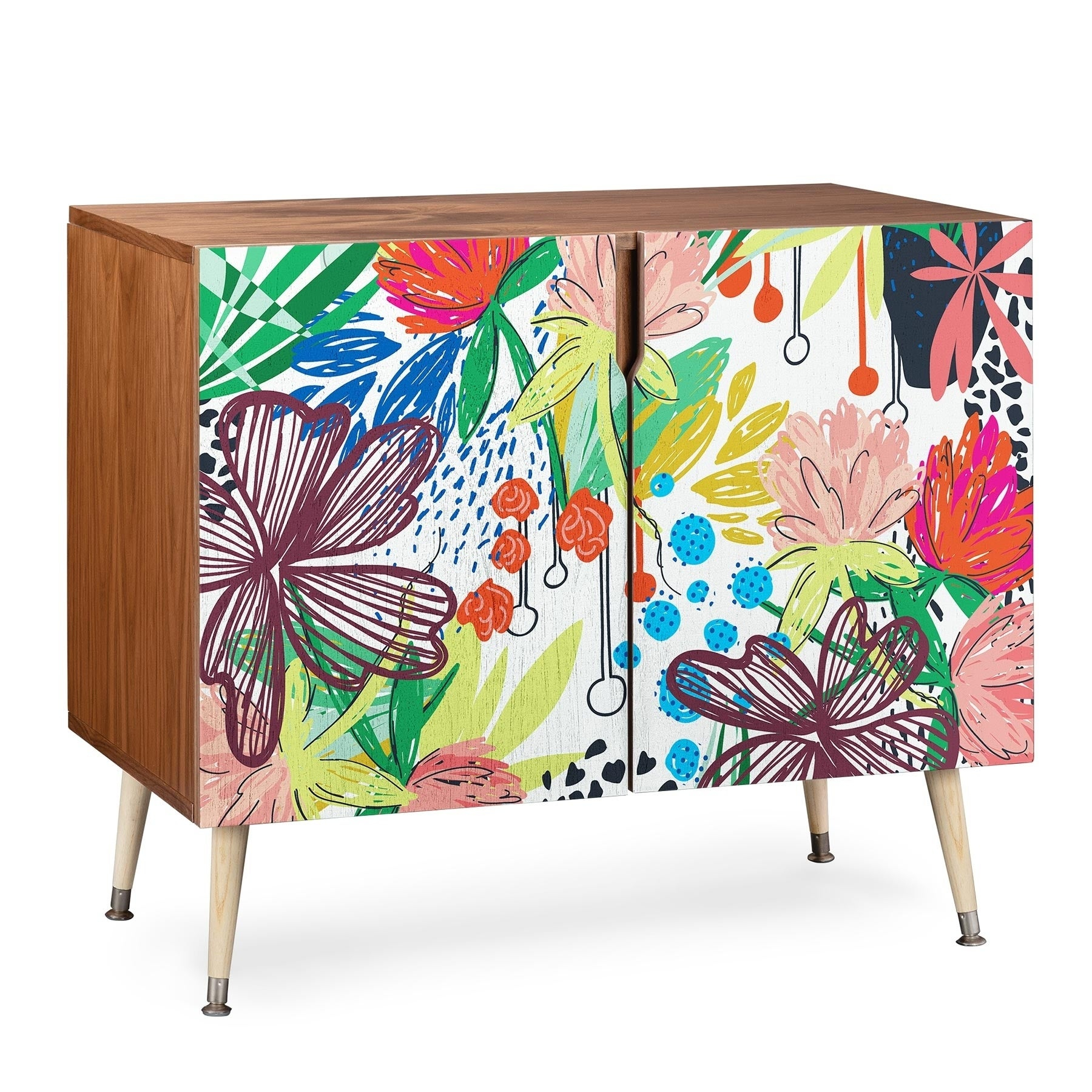 Deny Designs Khristian A Howell 'honduras' Credenza within Colorful Leaves Credenzas (Image 17 of 30)