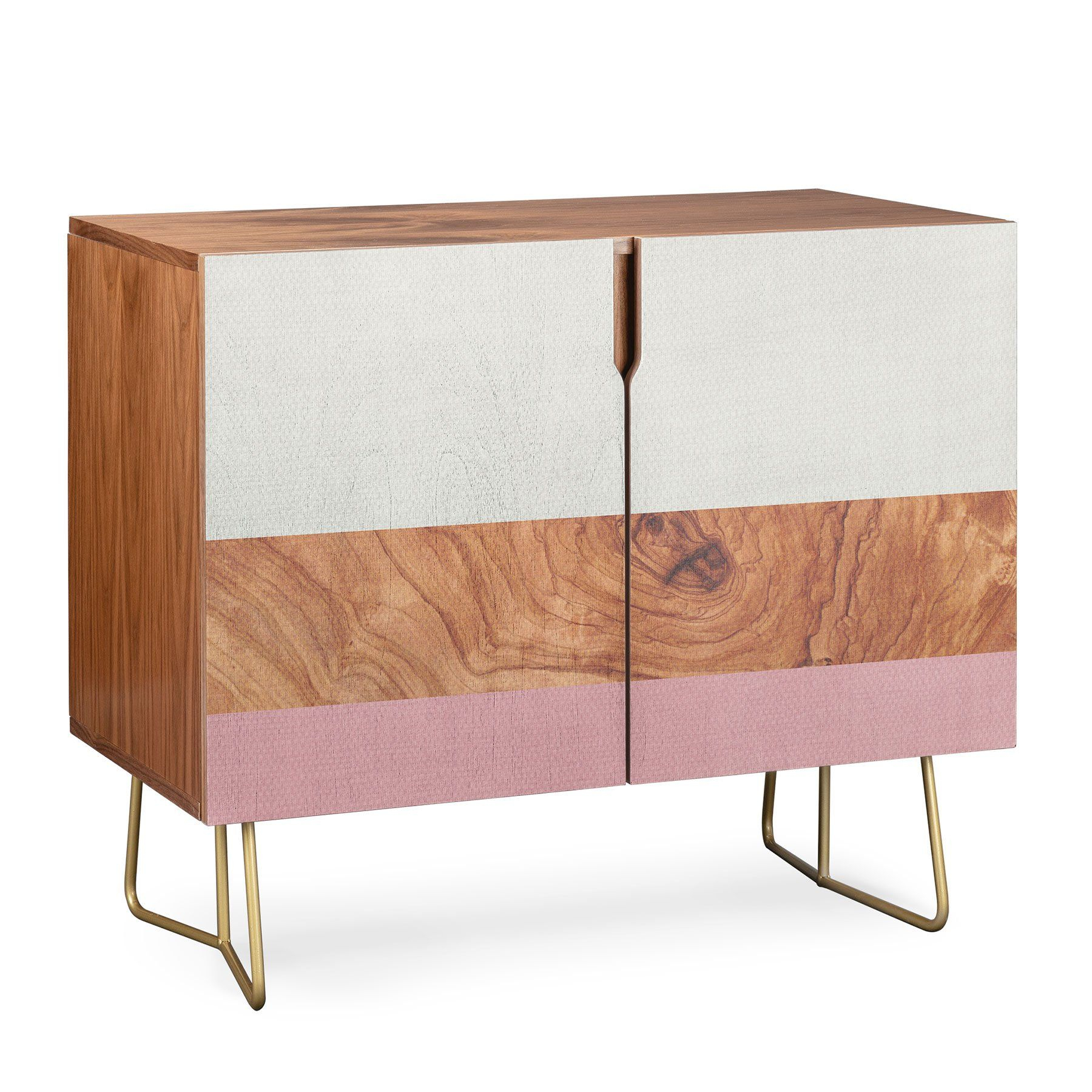 Deny Designs Line Geo Credenza (Birch Or Walnut, 2 Leg With Regard To Line Geo Credenzas (View 8 of 30)