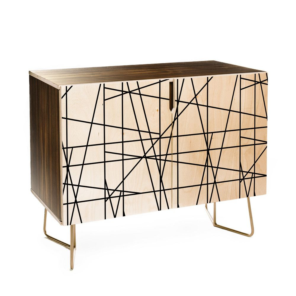 Deny Designs Line Geo Credenza (Birch Or Walnut, 2 Leg within Line Geo Credenzas (Image 9 of 30)