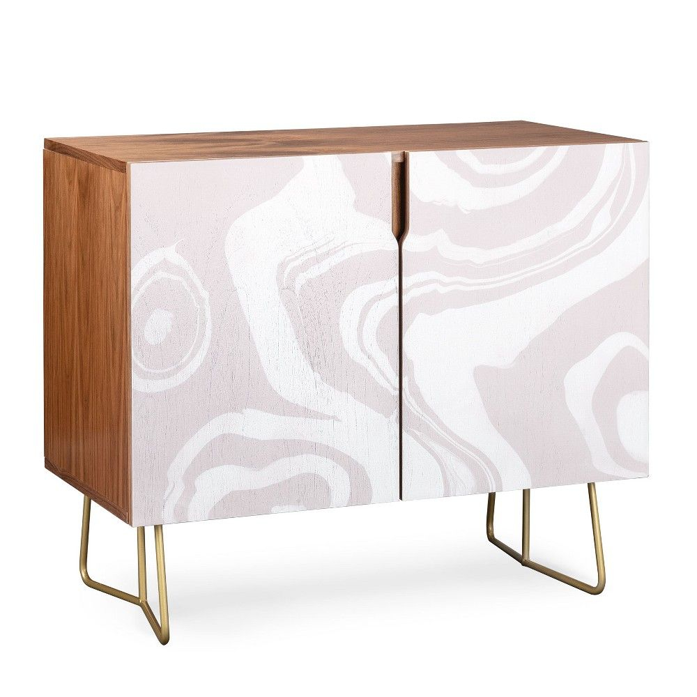 Deny Designs Lovely Floral Credenza (Birch Or Walnut, 2 Leg Inside Lovely Floral Credenzas (Gallery 24 of 30)