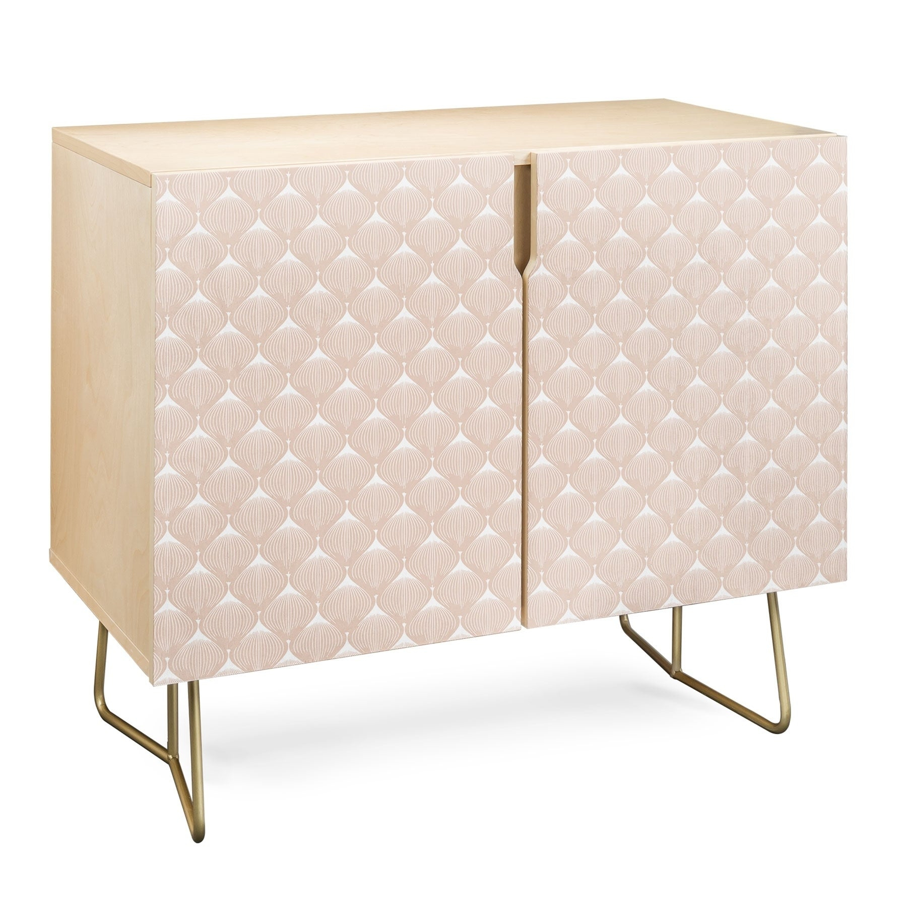 Deny Designs Pale Pink Bulbs Credenza (Birch Or Walnut, 2 Leg Options) In Pale Pink Bulbs Credenzas (Photo 3 of 30)