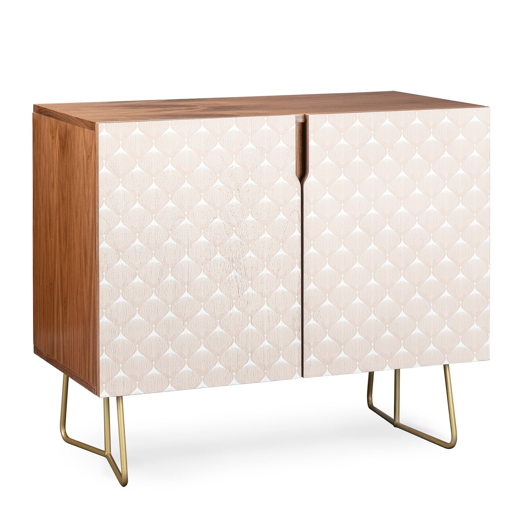 Deny Designs Pale Pink Bulbs Credenza (Birch Or Walnut, 2 Leg Options) Pertaining To Pale Pink Bulbs Credenzas (Gallery 5 of 30)