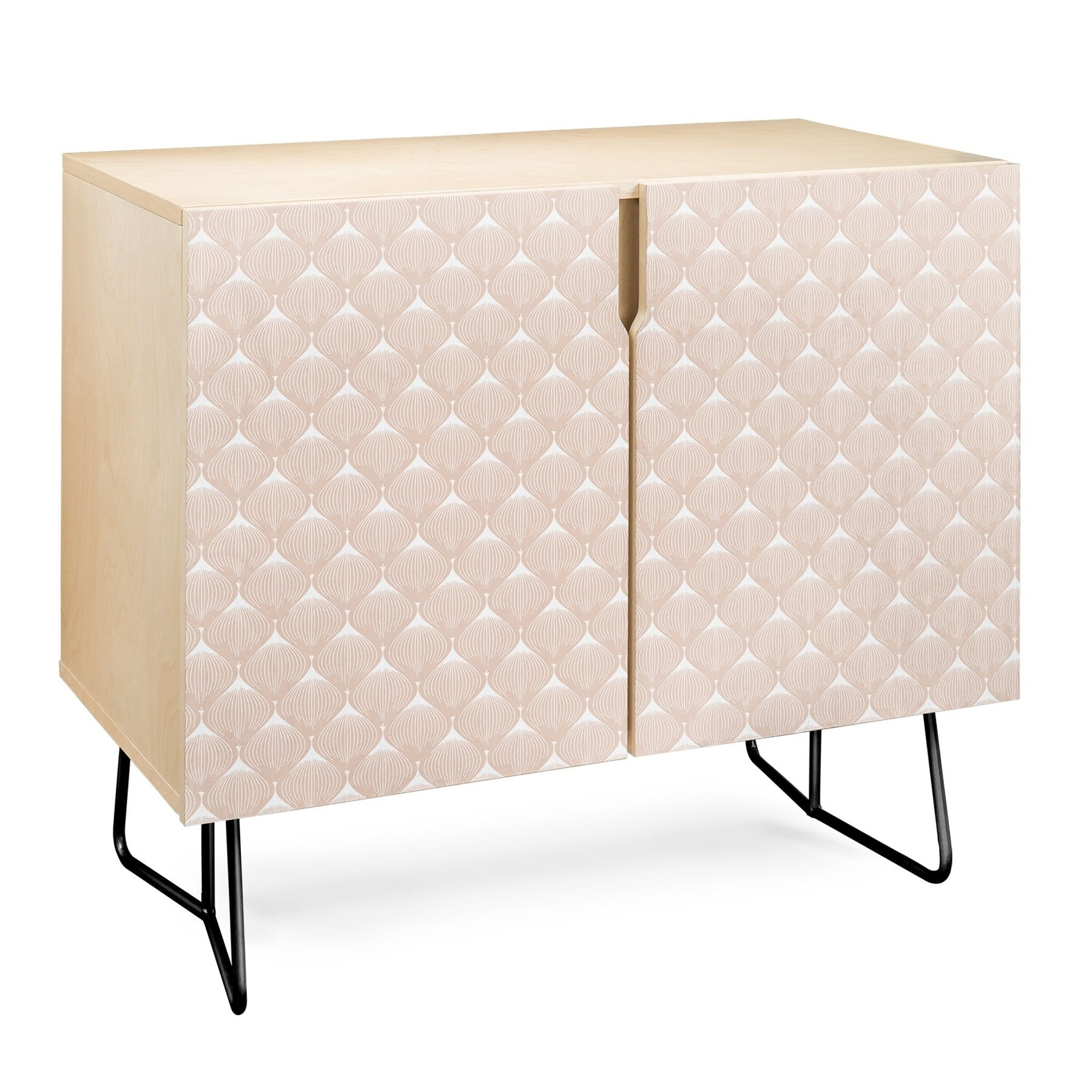 Deny Designs Pale Pink Bulbs Credenza (Birch Or Walnut, 2 Leg Options) Throughout Pale Pink Bulbs Credenzas (Photo 4 of 30)