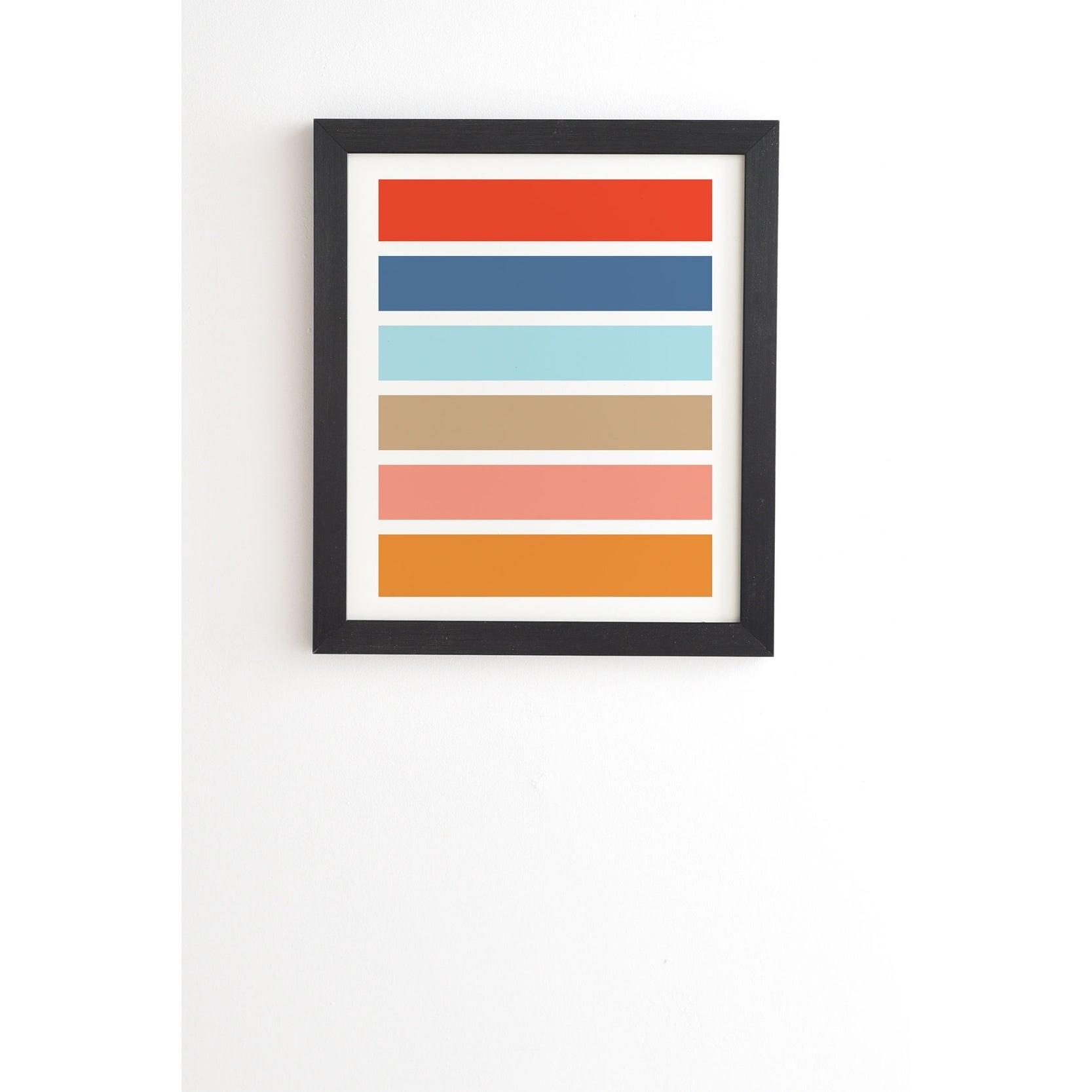 Deny Designs Six Stripes Framed Wall Art (3 Frame Colors) – Multi Color In Six Stripes Buffets (Gallery 22 of 30)