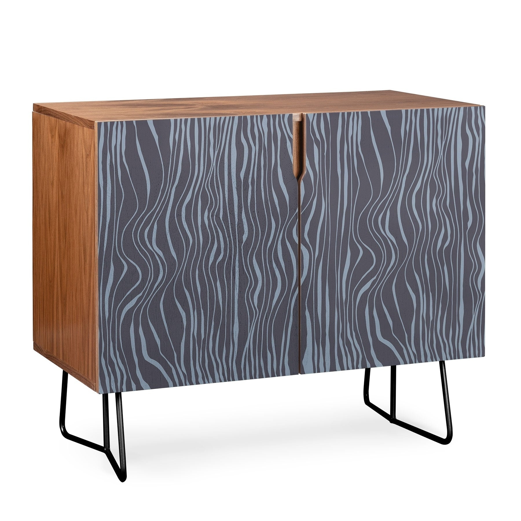 Deny Designs Wavy Stripes Credenza (Birch Or Walnut, 2 Leg Options) regarding Multi Stripe Credenzas (Image 12 of 30)