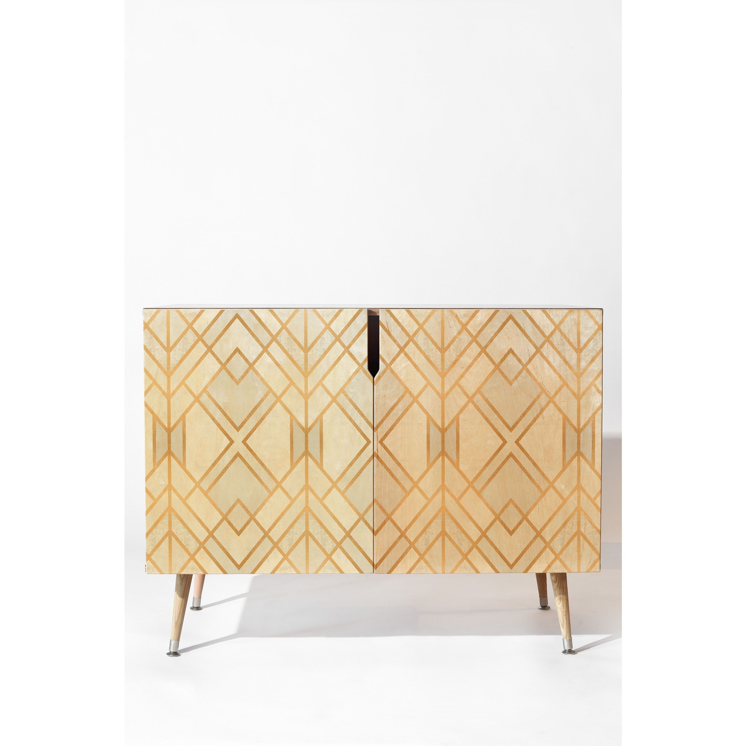 Deny Designs White Geometric Wood Credenza In 2019 | Home With Regard To Modele 7 Geometric Credenzas (Gallery 23 of 30)