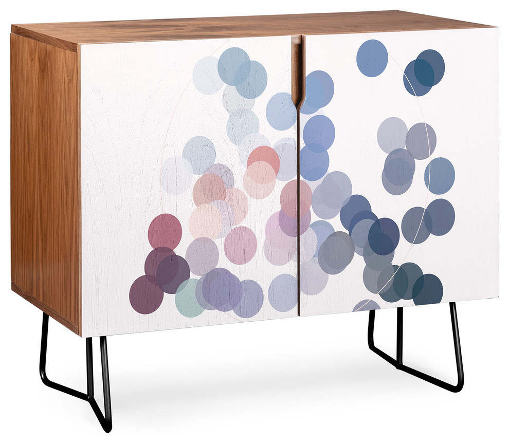 Deny Designs Wink Wink Credenza, Walnut, Black Steel Legs Intended For Turquoise Skies Credenzas (Gallery 11 of 30)
