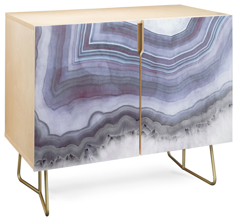 Deny Designs Winter Agate Credenza, Birch, Gold Steel Legs Inside Elephant Damask Paloma Credenzas (Photo 6 of 30)