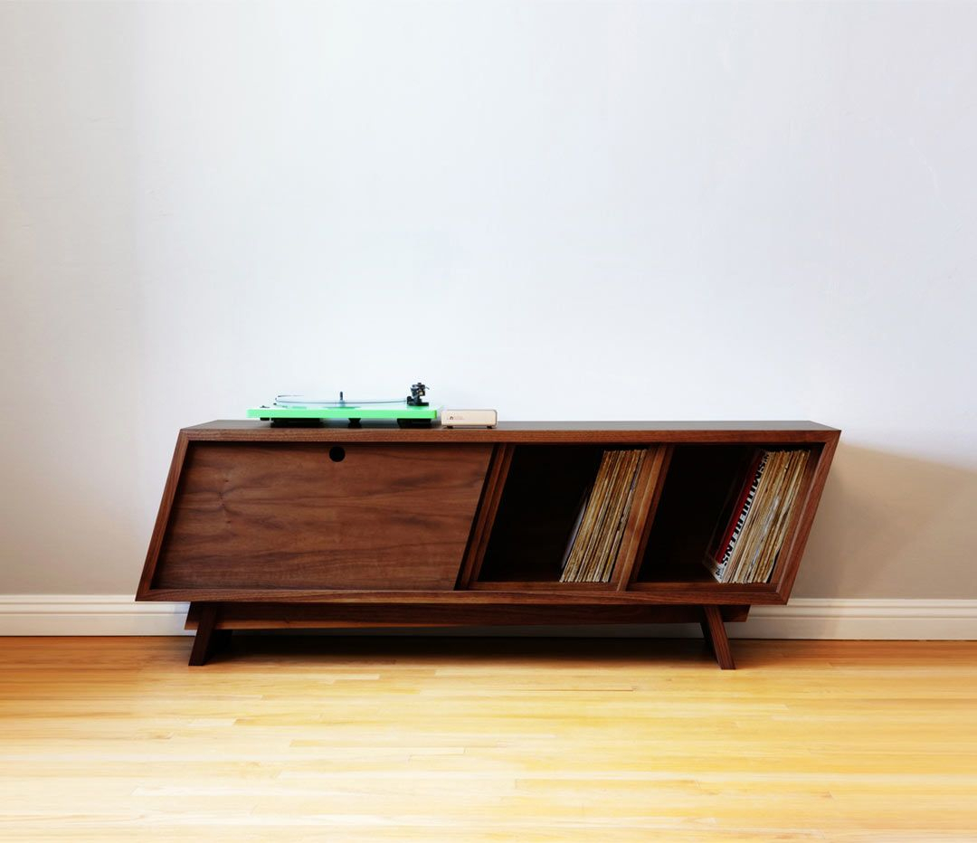 Designing And Building A Modern Record Player Console With Wooden Deconstruction Credenzas (View 7 of 30)