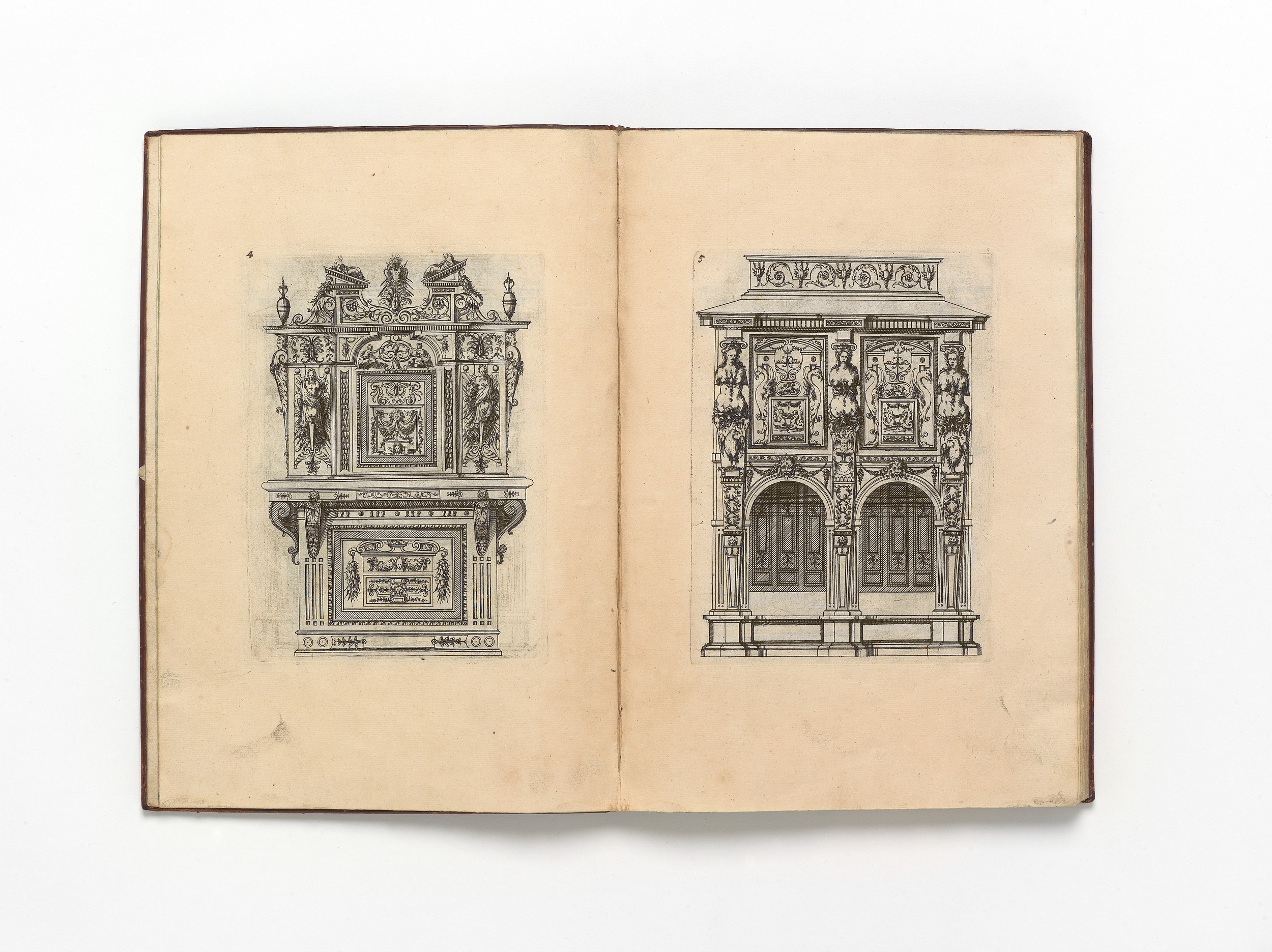 Designs For Furnishing, Including Cupboards And Sideboards, Tables, Chairs, Beds, Pedestals For Busts, Caryatid And Terminal Figures, Doorways, And A In Dormer Sideboards (Gallery 27 of 30)