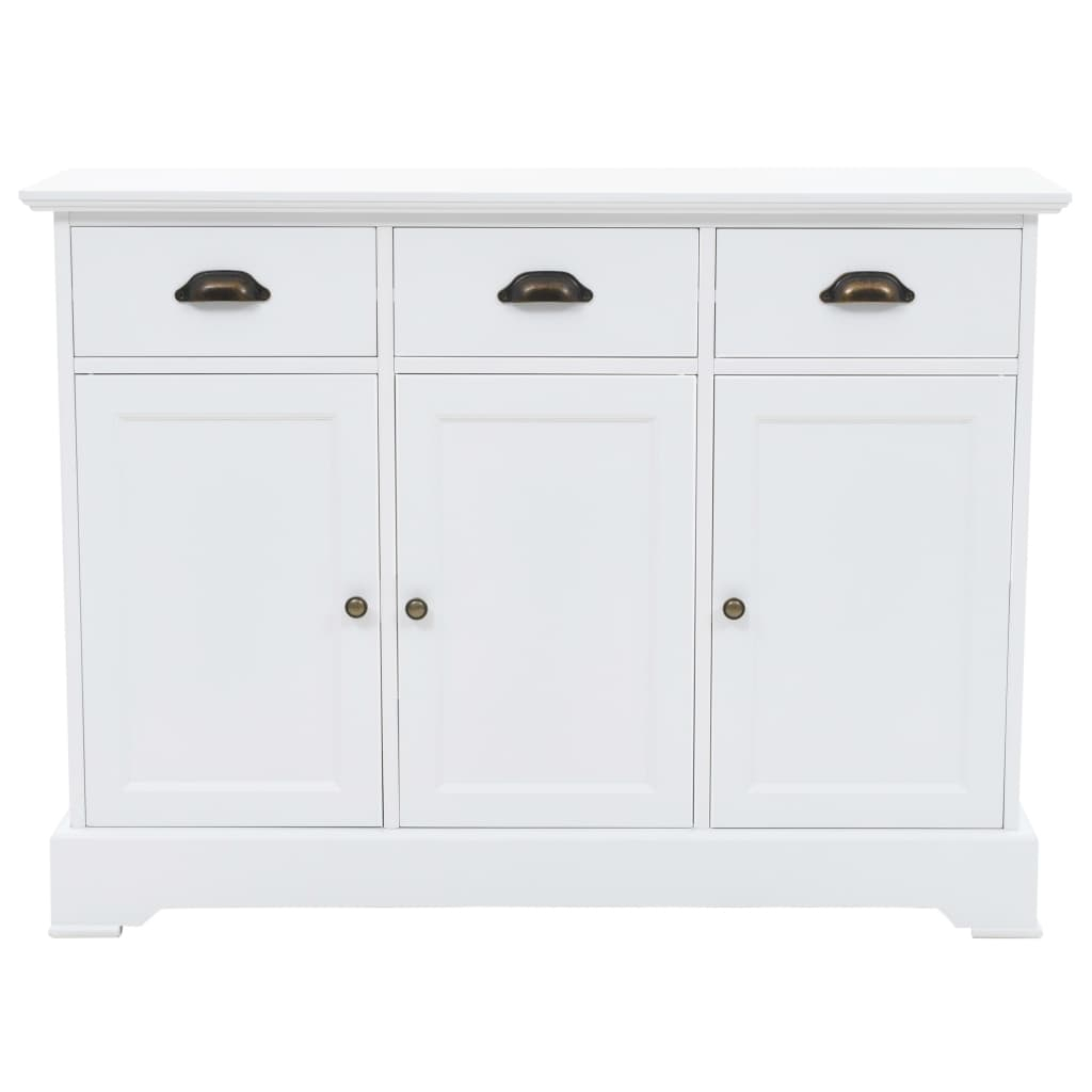 Details About Buffet Sideboard Storage Cabinet With 3 Doors And 3 Drawers  Console Table White In 3 Drawer Black Storage Buffets (Photo 12 of 30)