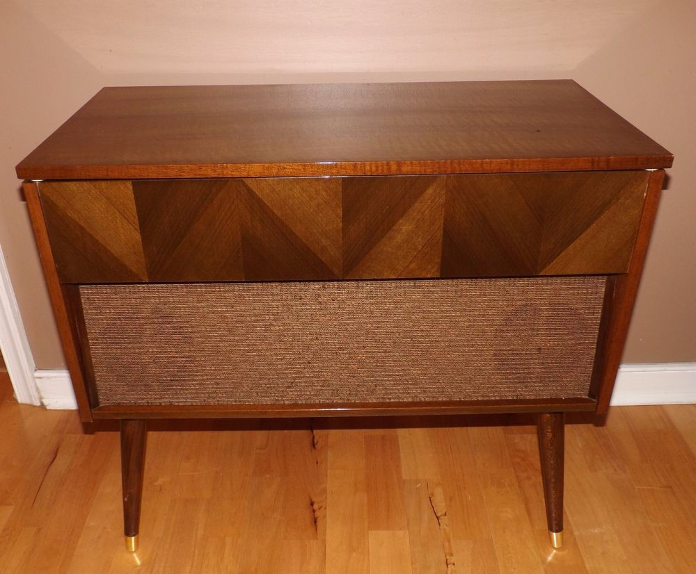 Details About Mid Century Morse Console Record Player Pertaining To Retro Holistic Credenzas (Photo 22 of 30)