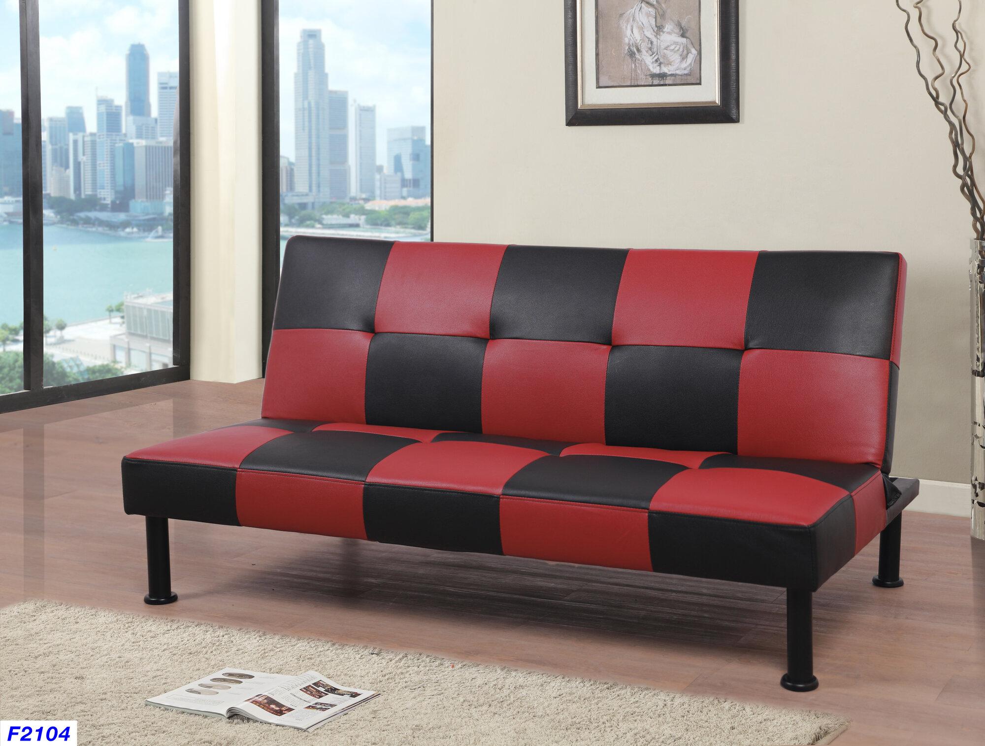 Details About Orren Ellis Barner Convertible Sofa With Kieth 4 Door Credenzas (Gallery 12 of 30)